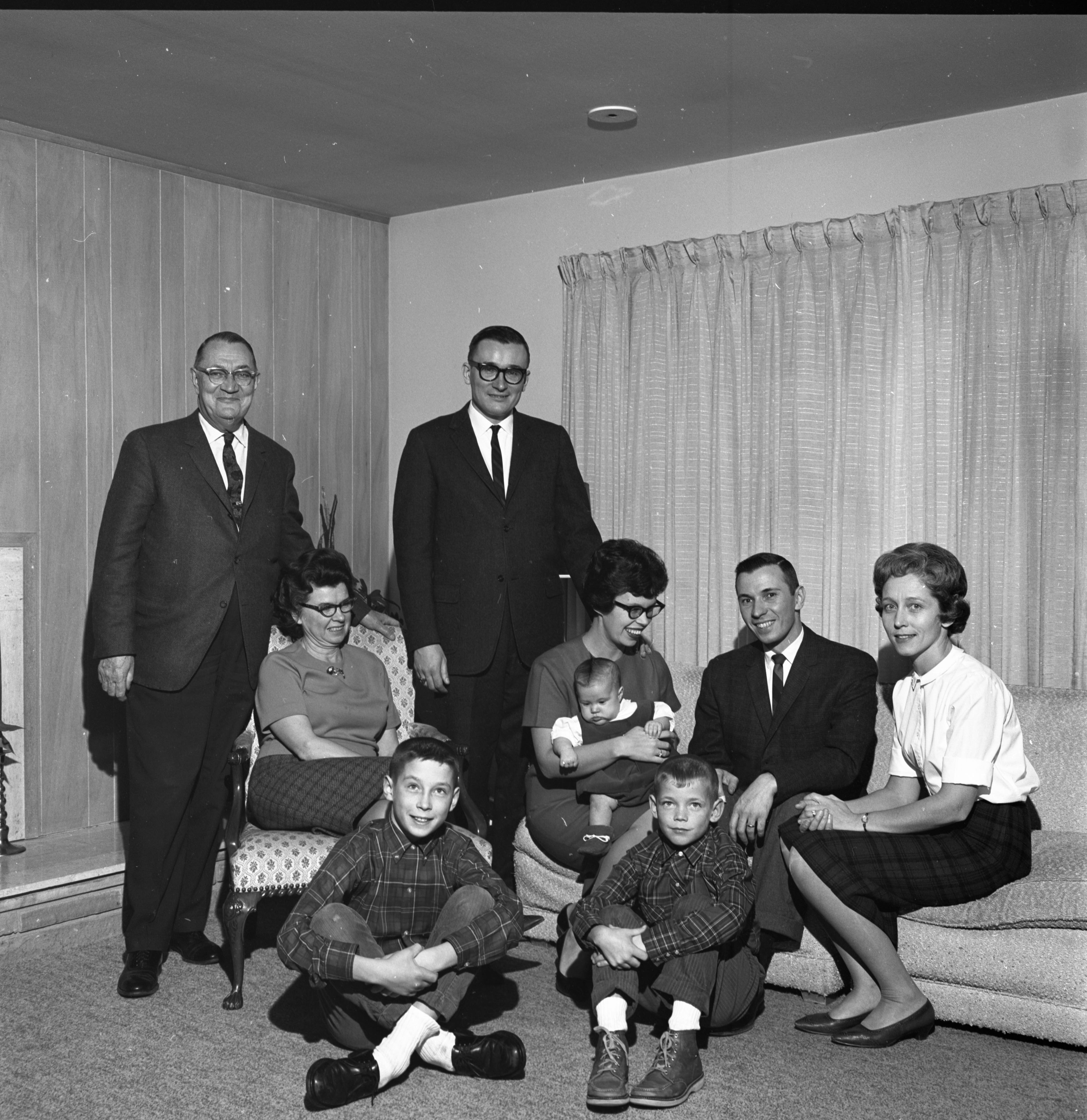 The Cecil O. Creal Family, December 1964 image