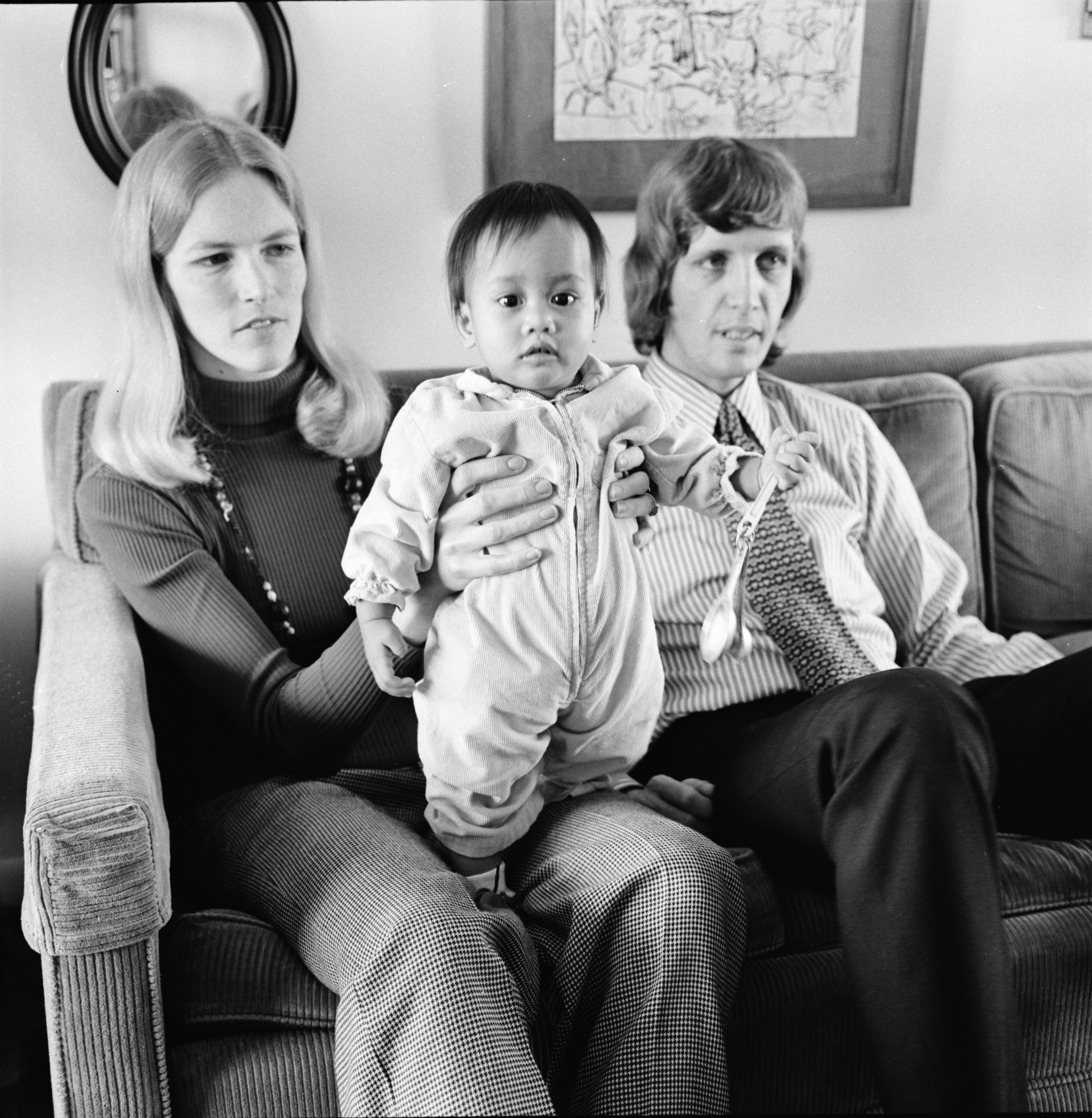 Palmer Family with Daughter Leila Adopted from Vietnam, April 1974 image