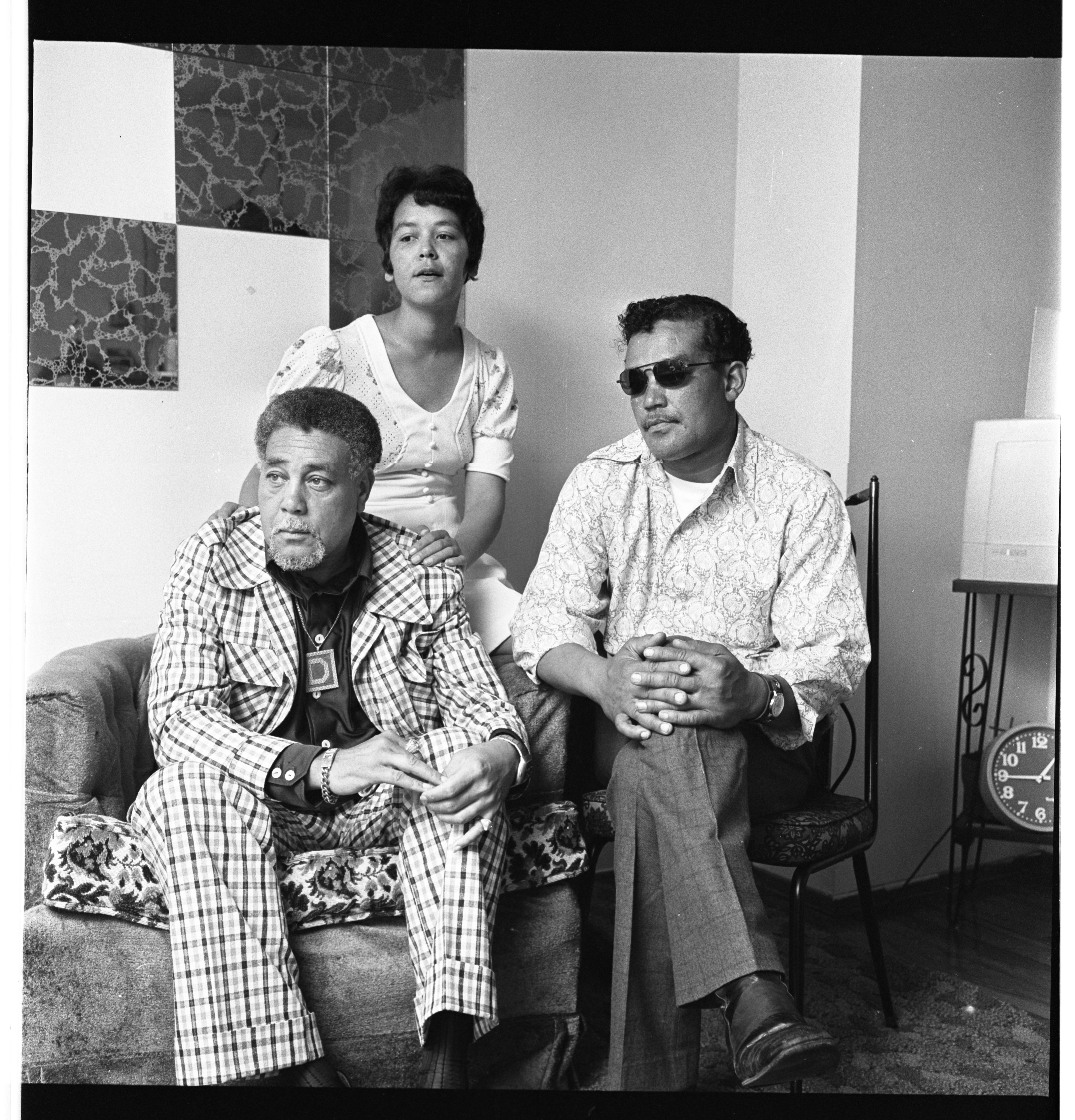 James Duck, Margaret Grisham, and Kenneth Johnson, July 1974 image