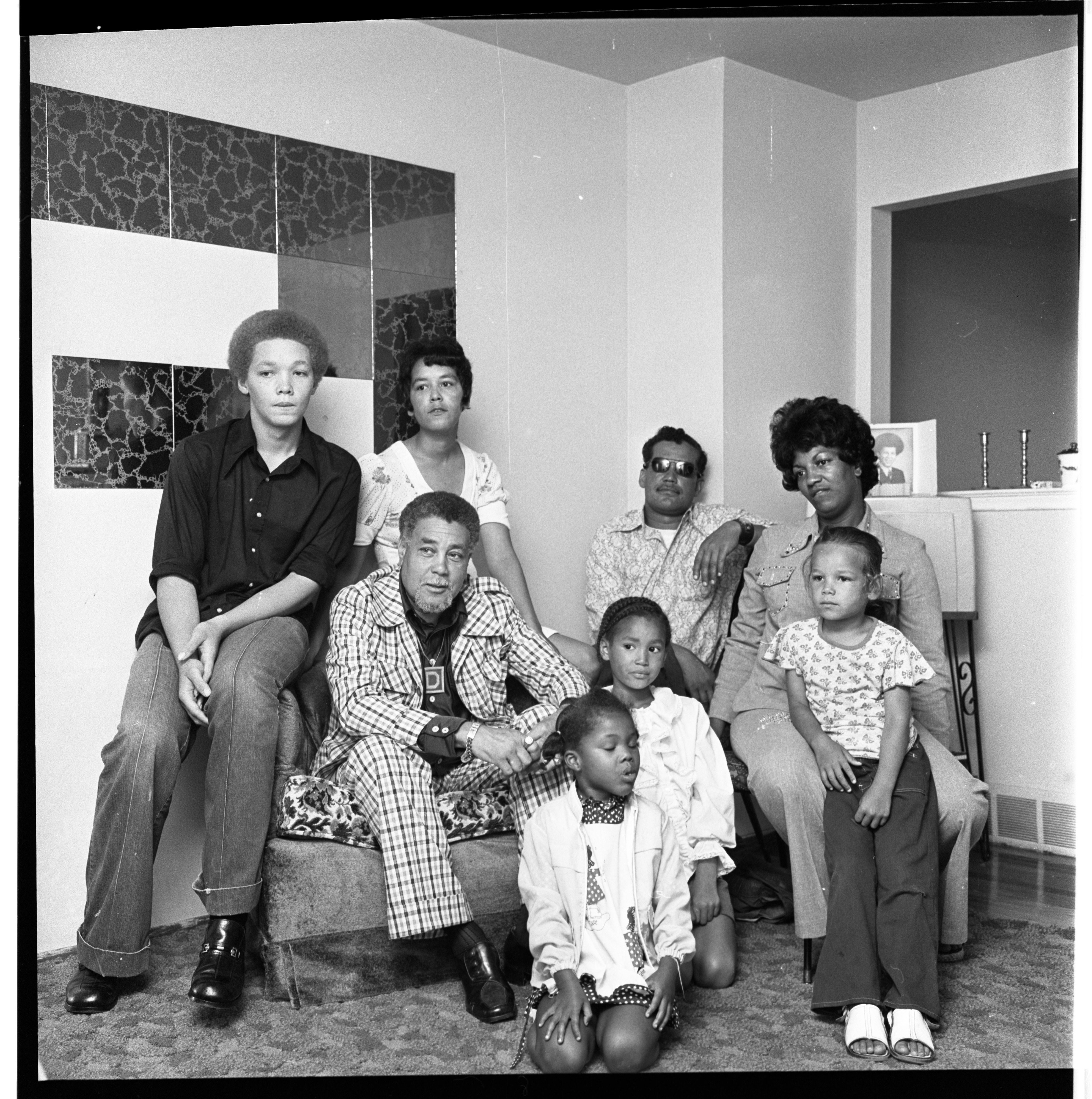 James Duck, Margaret Grisham, and Kenneth Johnson and Family Members, July 1974 image
