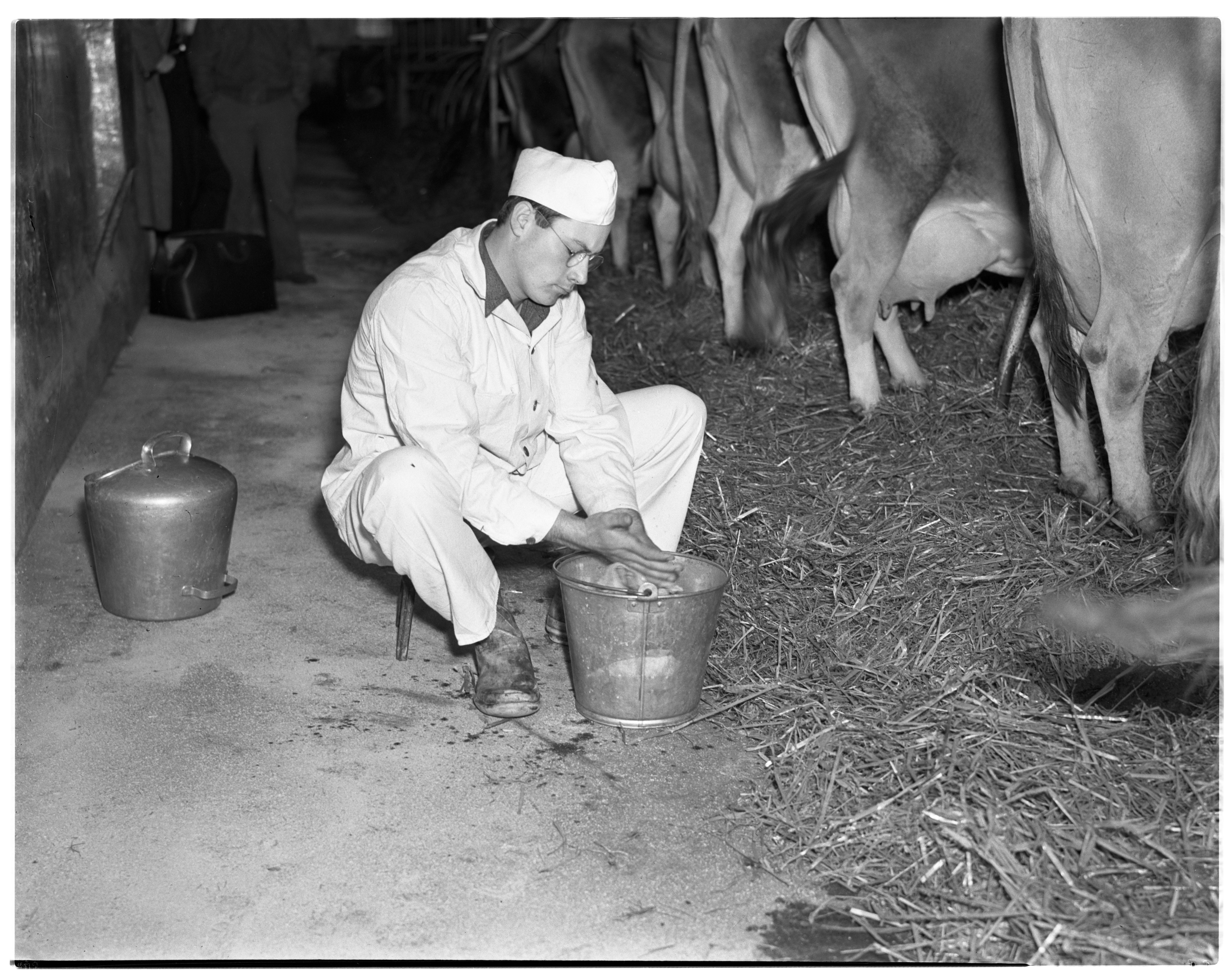 Man with Pail - National Dairy Week  image