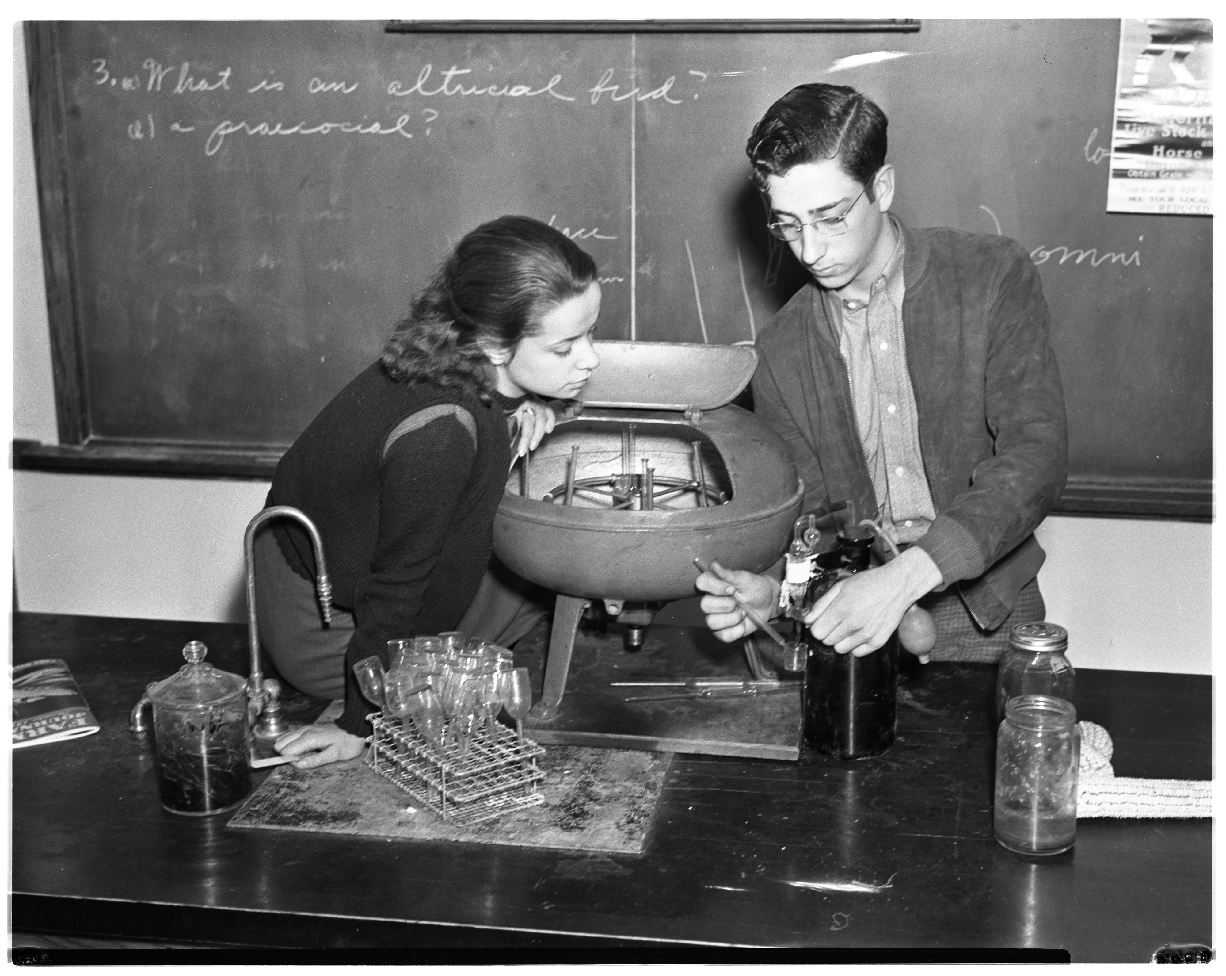 Milk Tester John Carver at Ypsi High School image