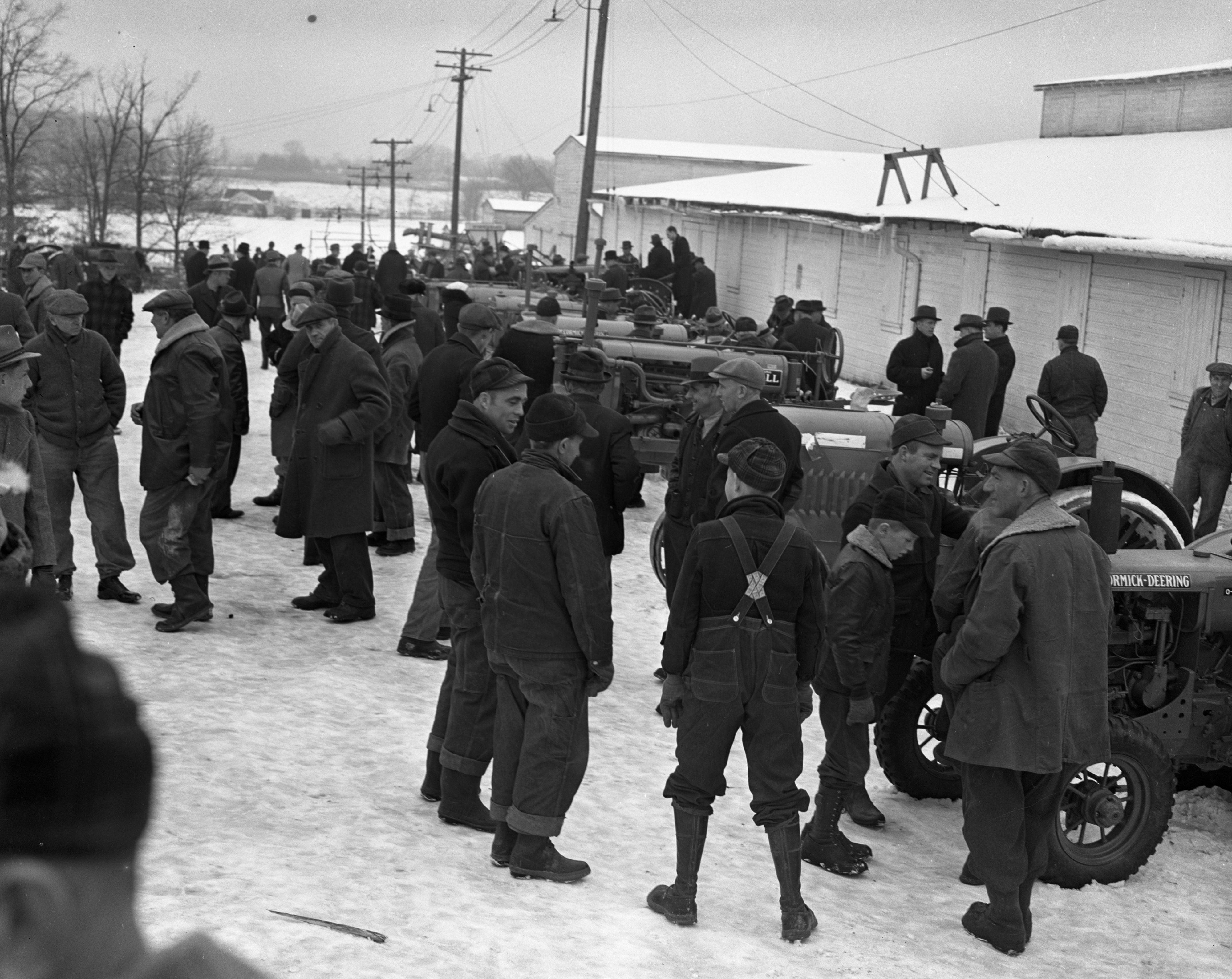 Farm Auction at the Fairgrounds, March 1940 image
