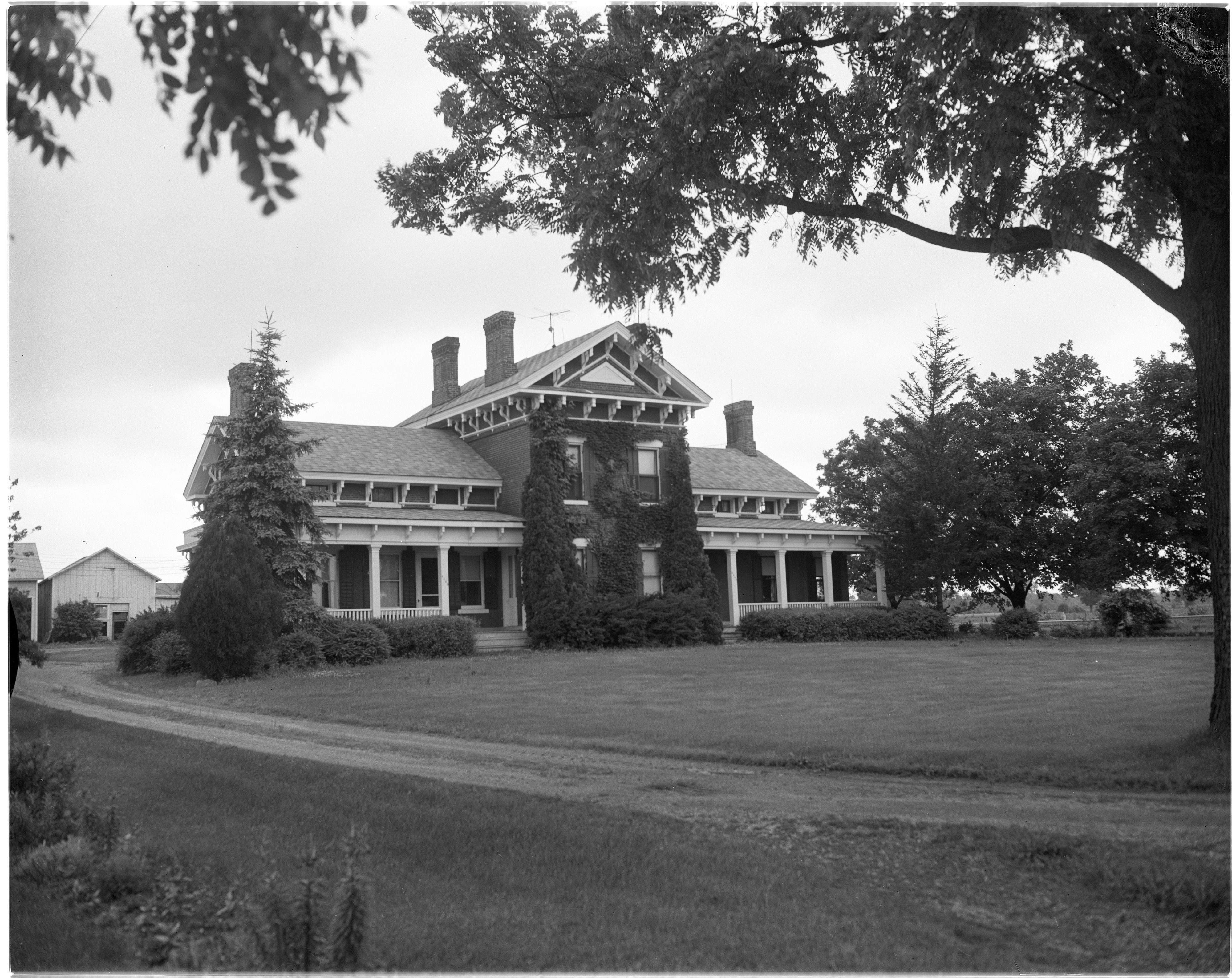 Old Lohr Homestead in Pittsfield Township, July 1956 image