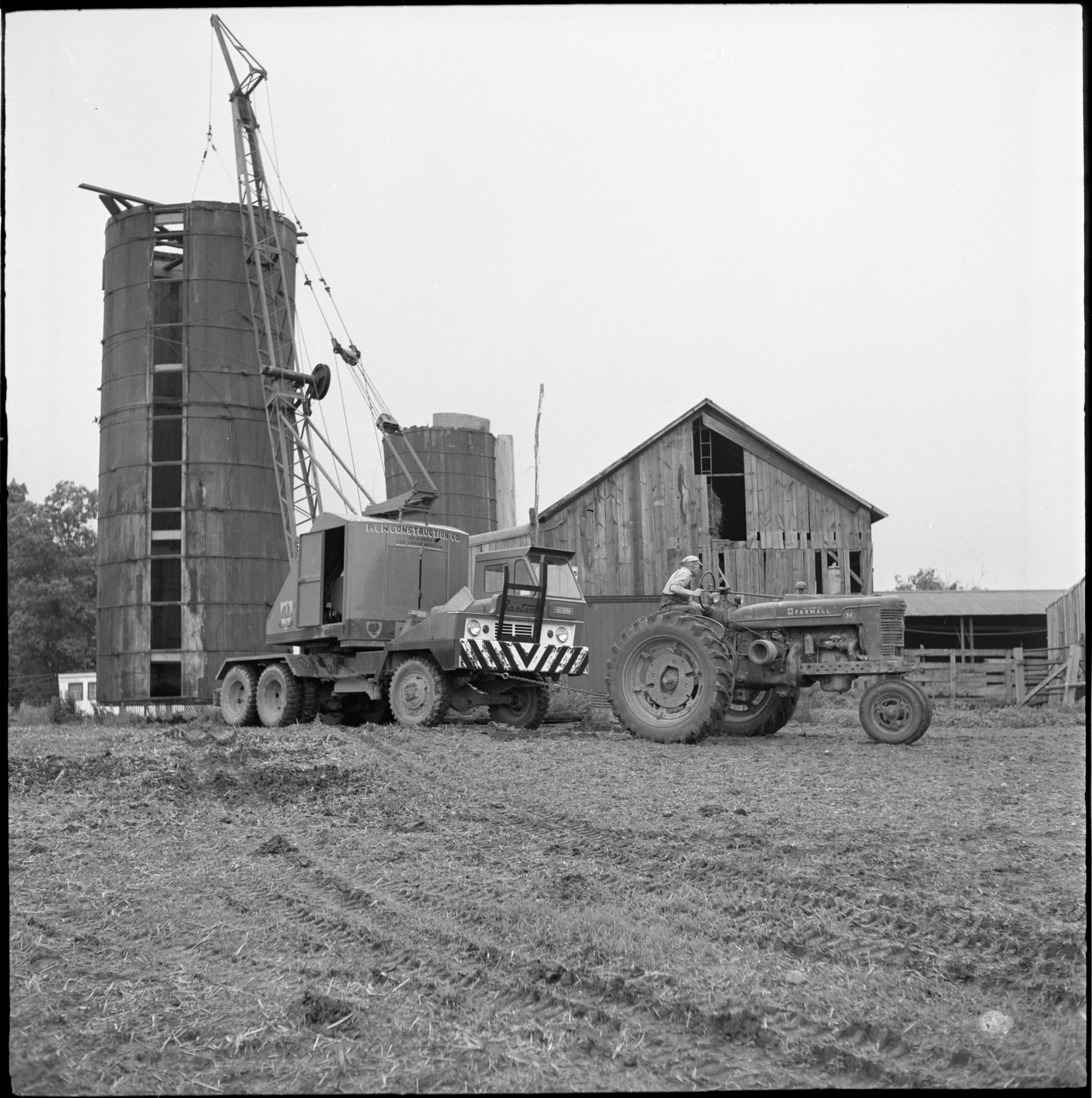 A Silo Is Moved On The Horace Whitney Farm, June 1958 image