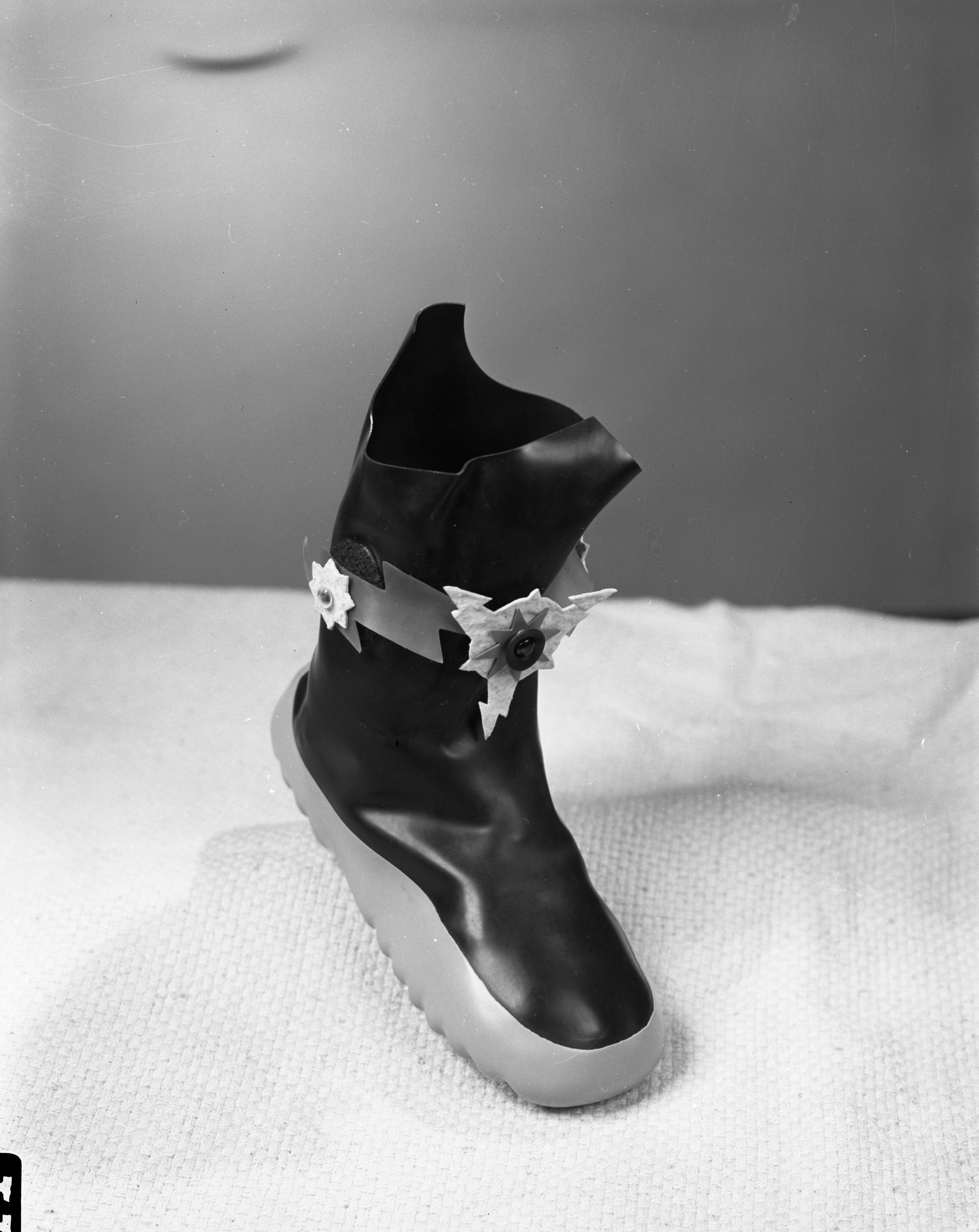 Women's Winter Boots With Creative Accents at Mast Shoe Store, October 1955 image
