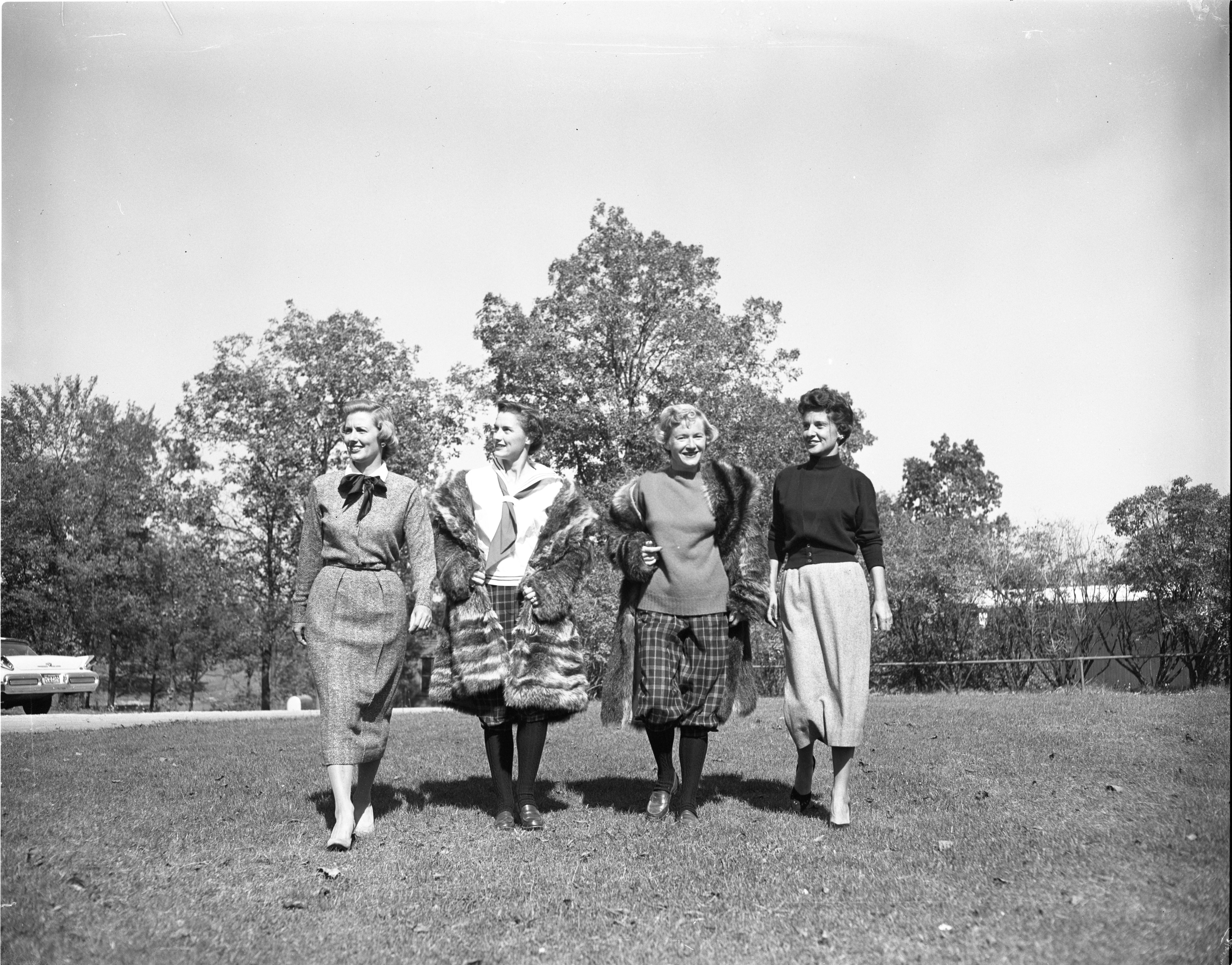 Fall Golf Fashions Modeled At Barton Hills Country Club, September 1957 image