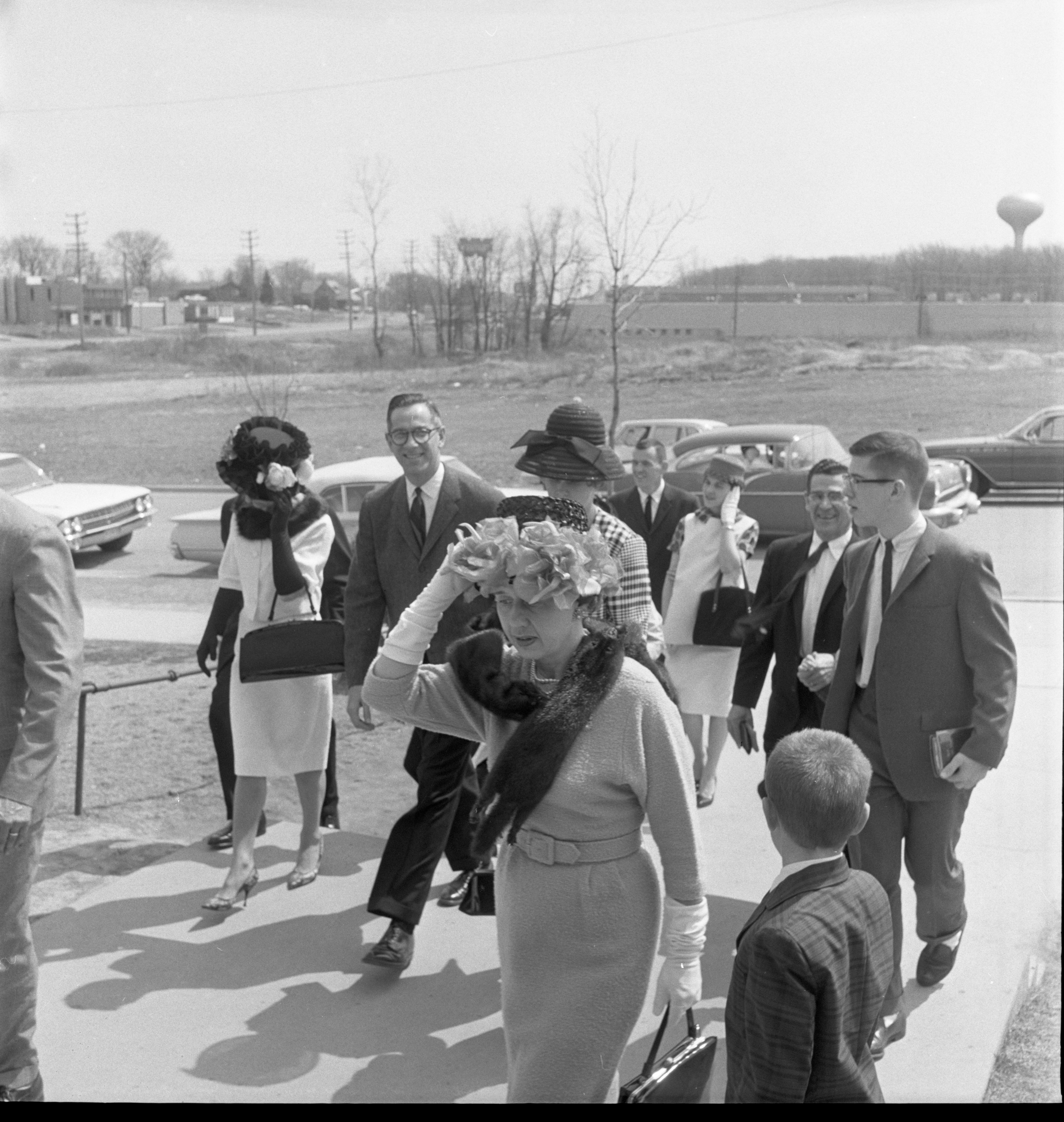 Families Arriving For Easter Service At St. Francis Church - April 22, 1962 image