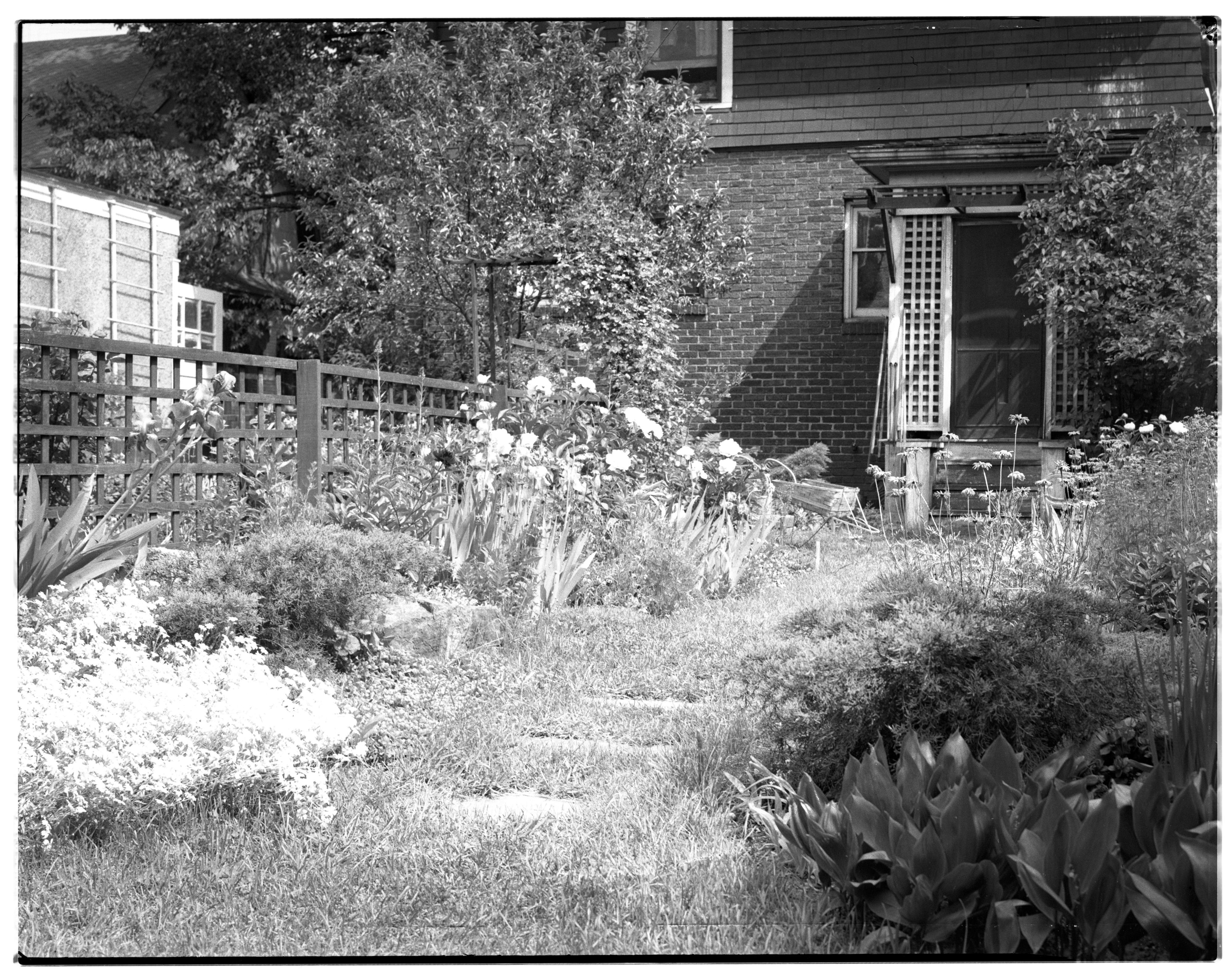 Mr. and Mrs. George C. Cone Garden, June 1, 1935 image