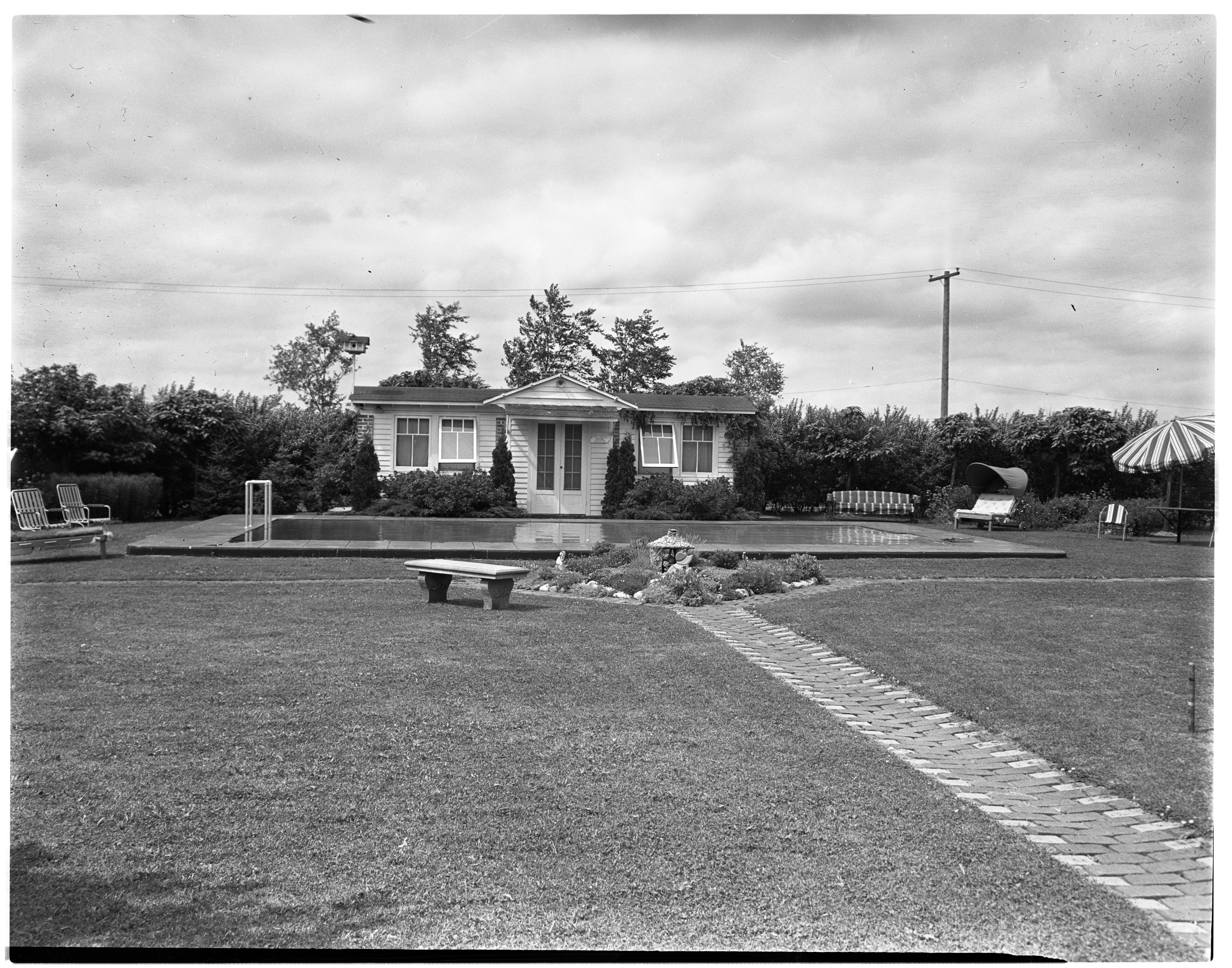 La Pointe House and Garden, July 1938 image