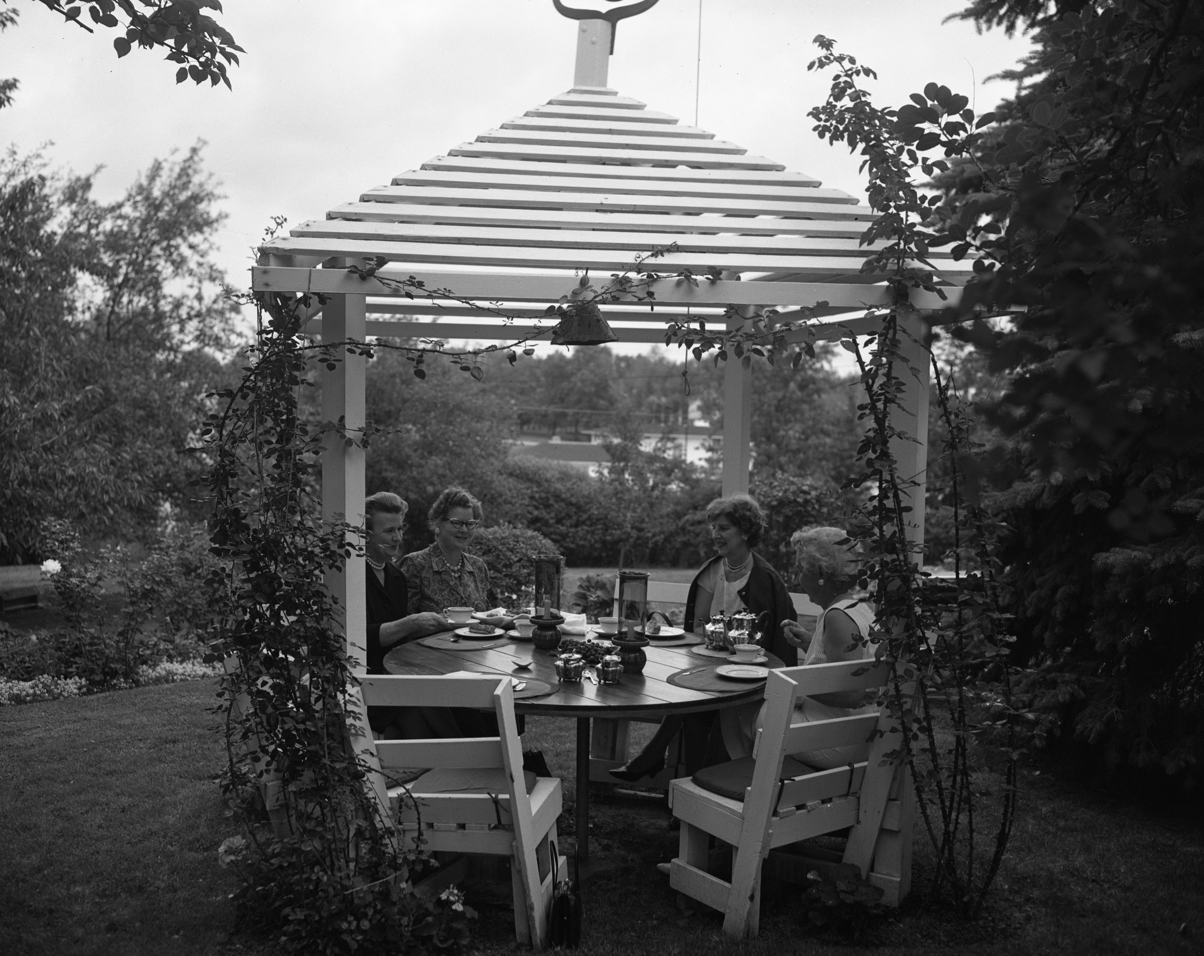 Afternoons Are Pleasant In the James Englands' Gazebo, September 1963 image