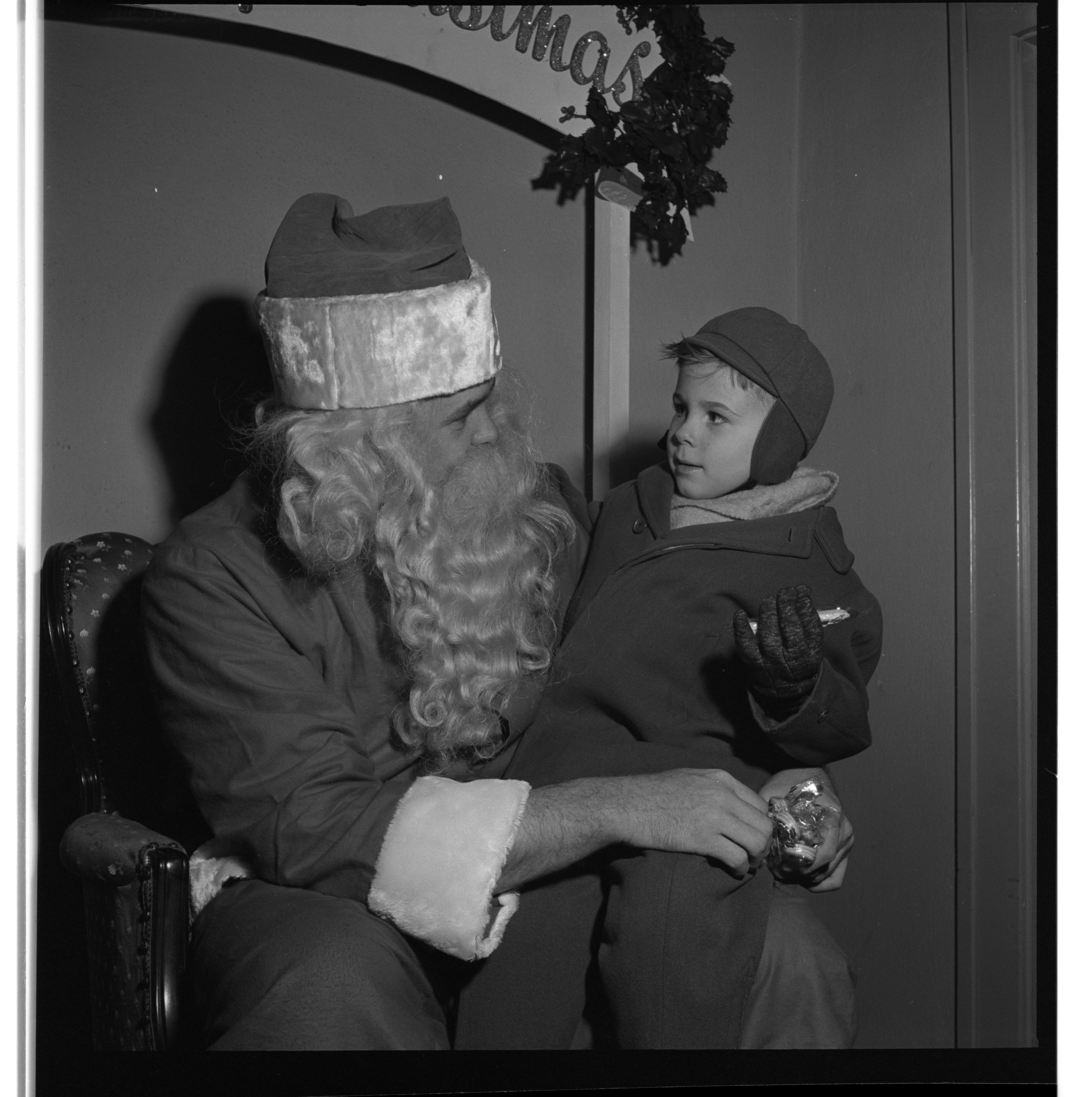 """Pepper"" Hazely Talks To Santa Claus, December 1950 image"