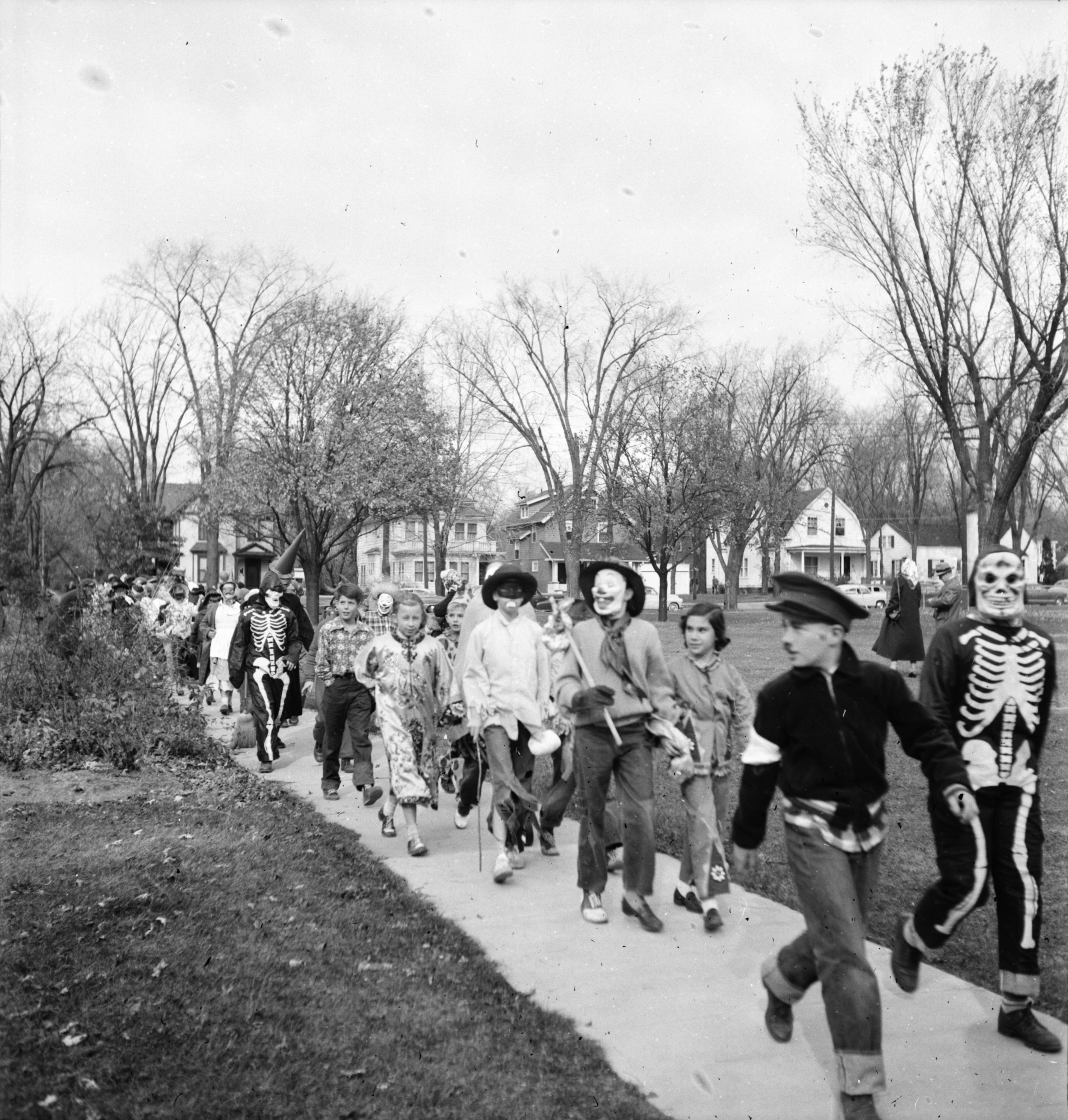 Hobos In The Burns Park School Halloween Parade, 1951