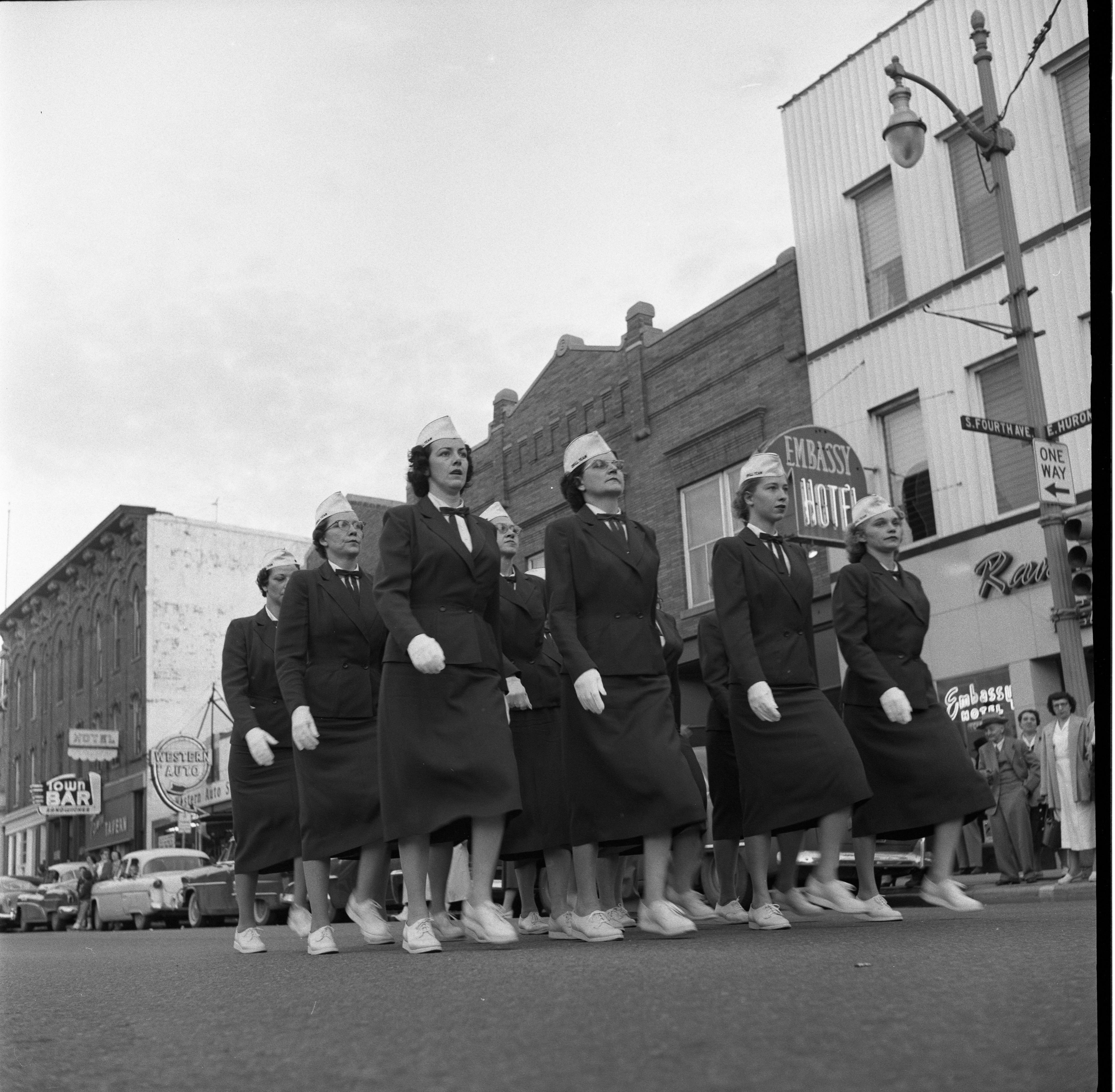 Women's Group Marching In Memorial Day Parade Along E. Huron, May 1957 image