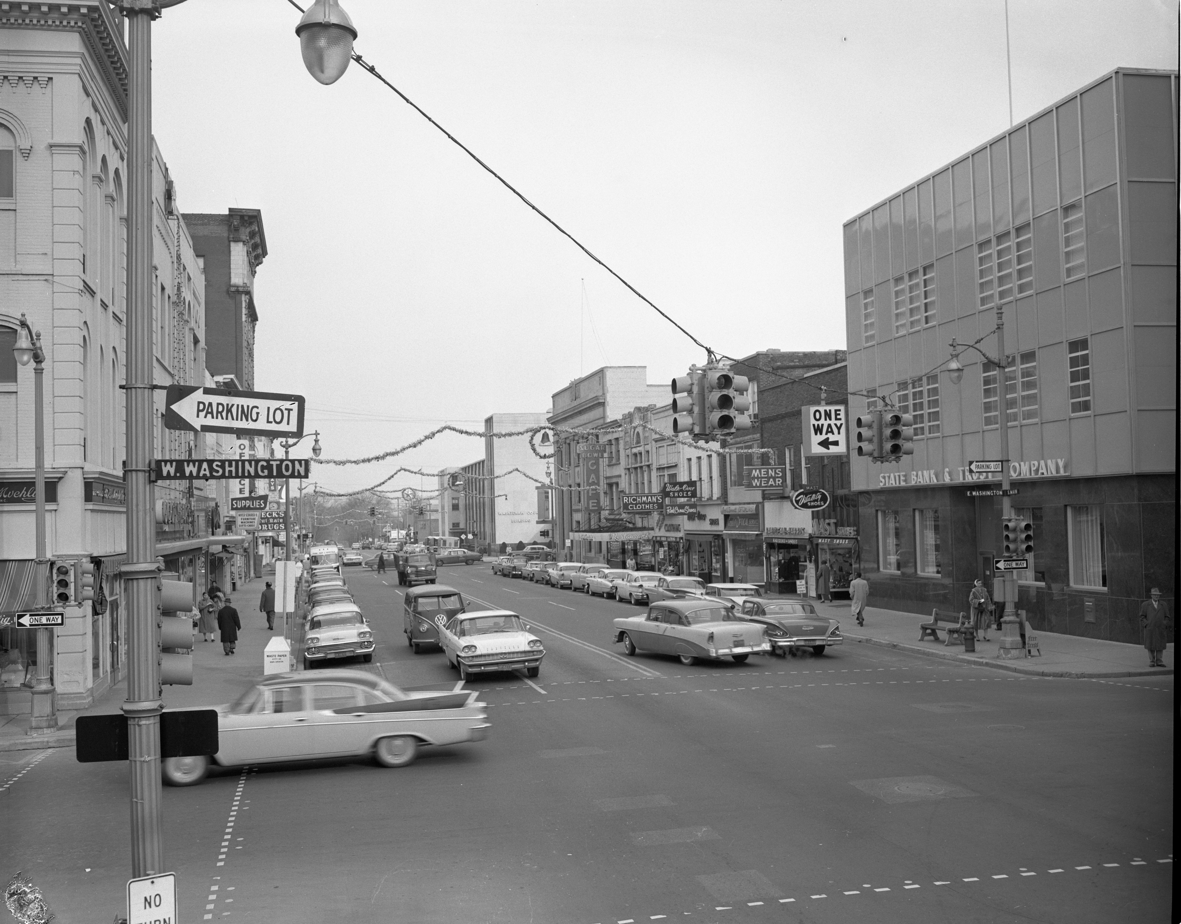 Christmas Decorations On Main Street, November 1959 image