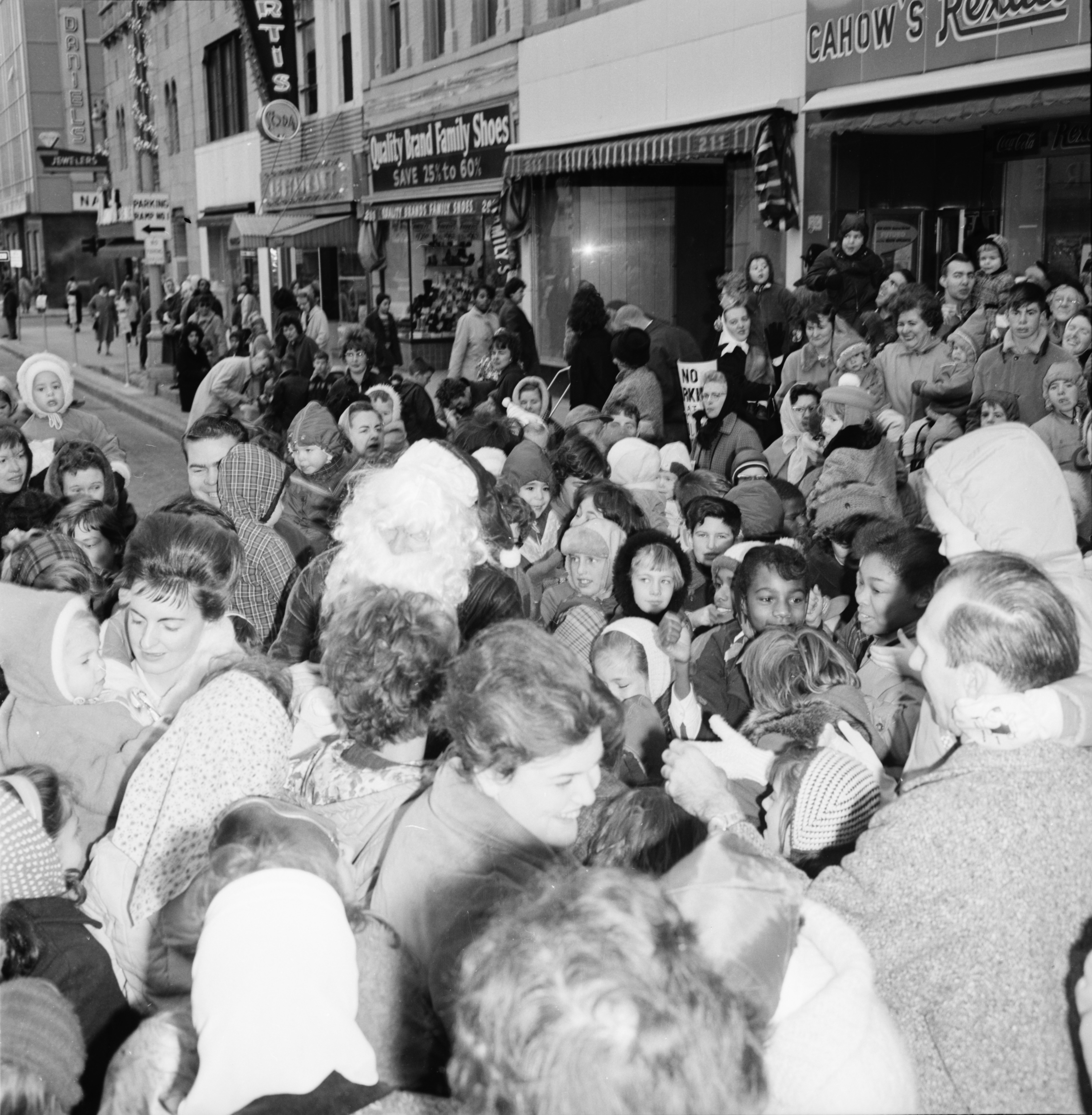 Santa Claus in downtown Ann Arbor, November 1963 image