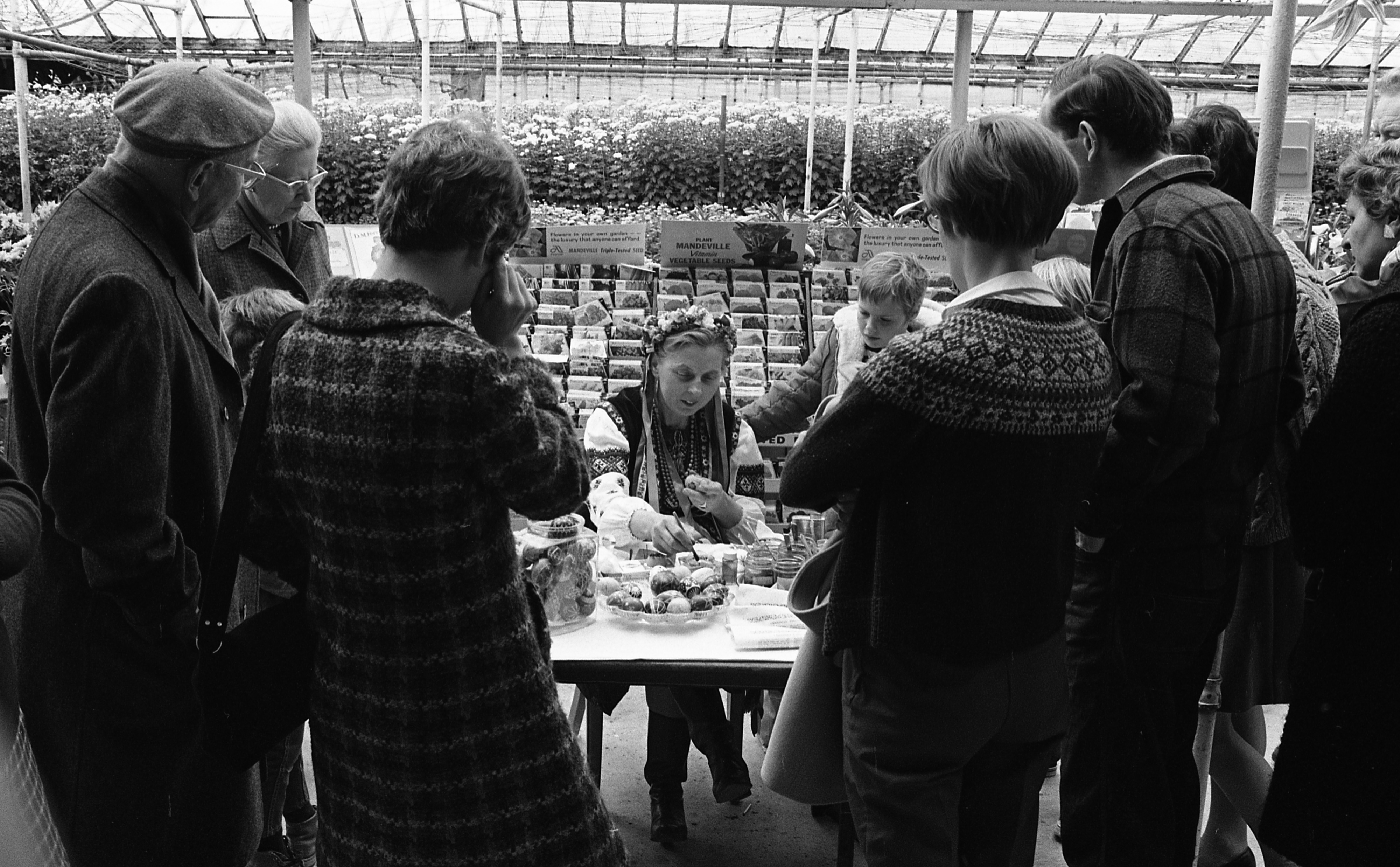 Cecelia Ference Talks To Group About Decorating Easter Eggs, April 1969 image