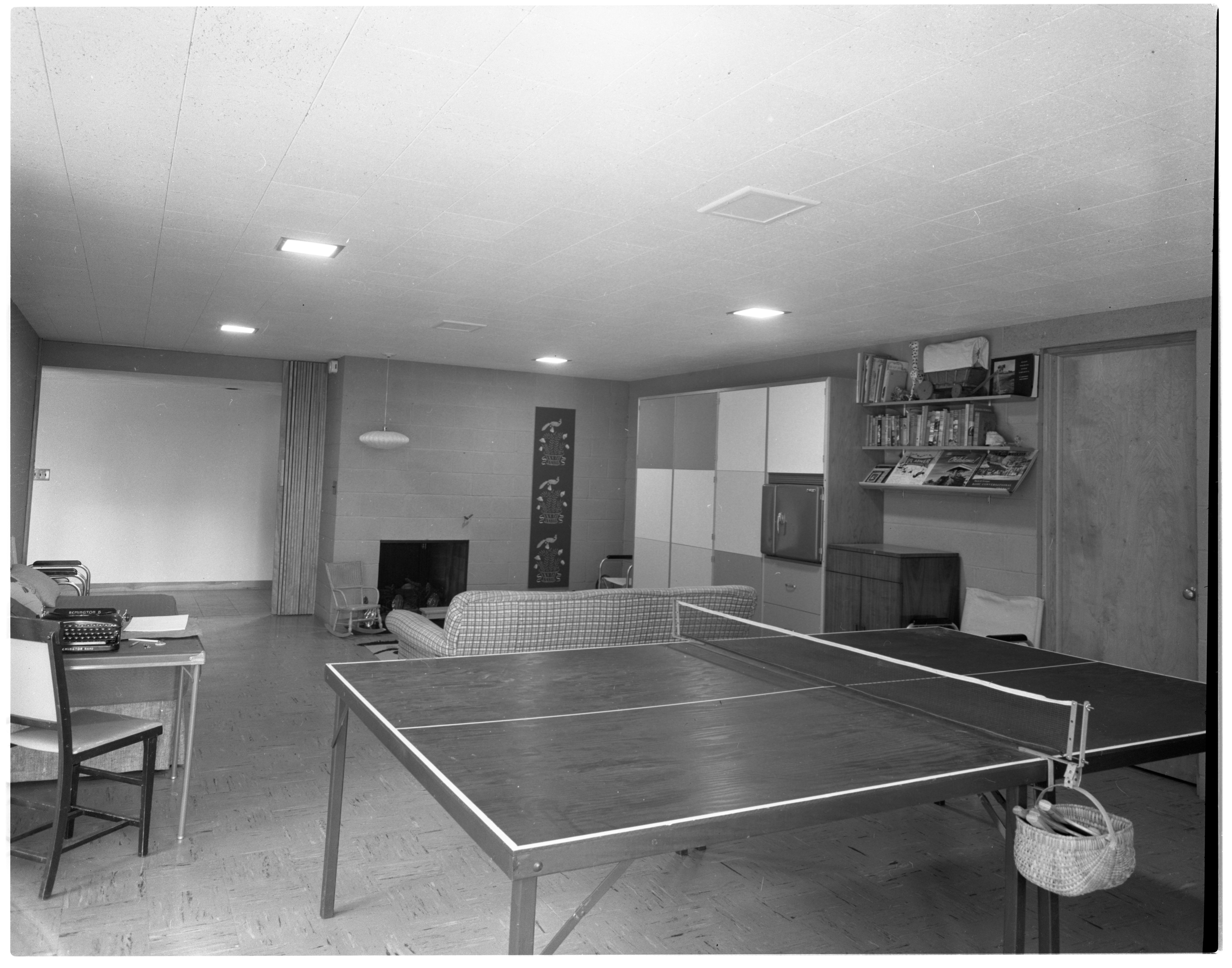 Recreation Room Featured In Lower Level of Moore Home, June 1958 image