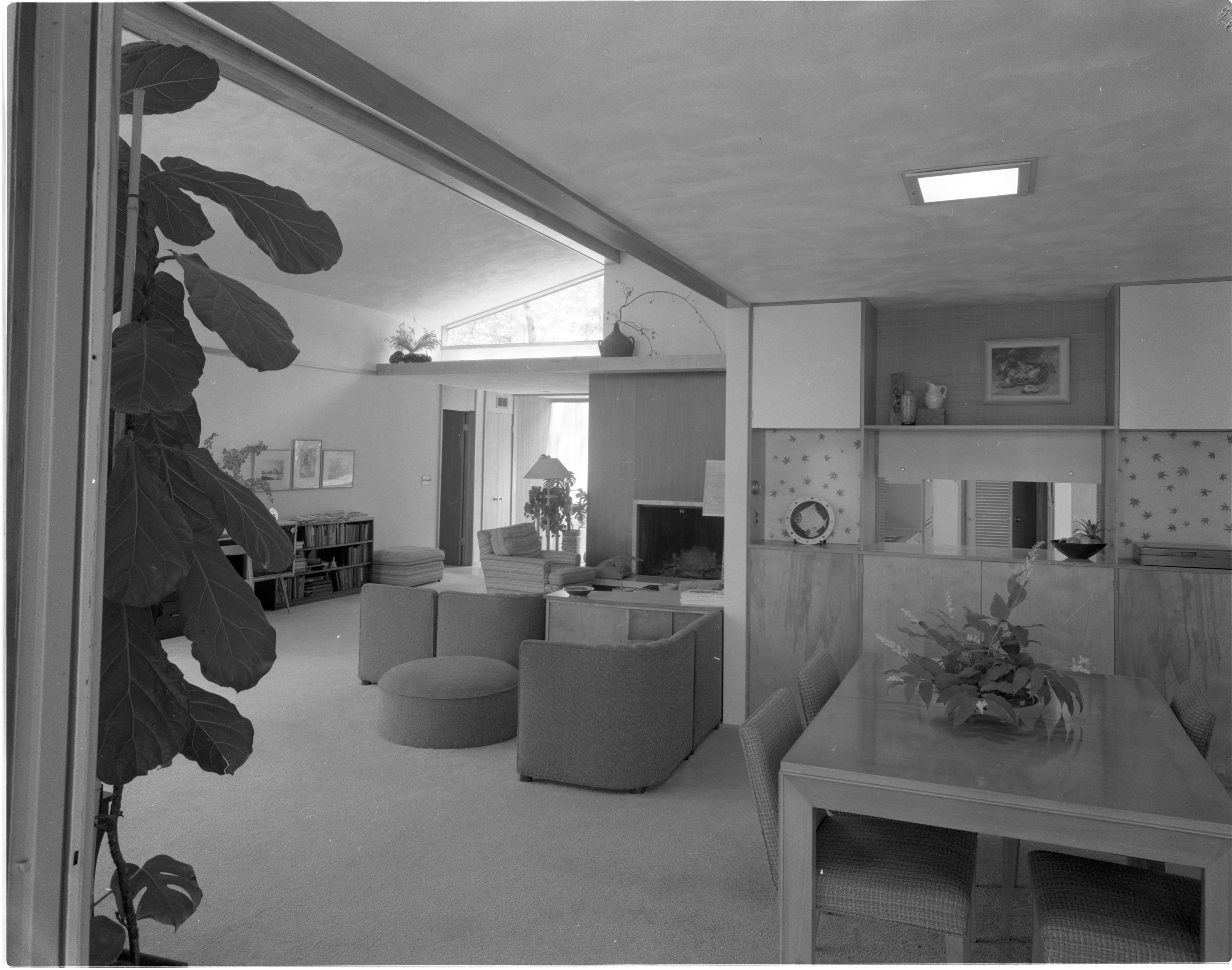 Cantilevered Entryway In Moore Home, June 1958 image