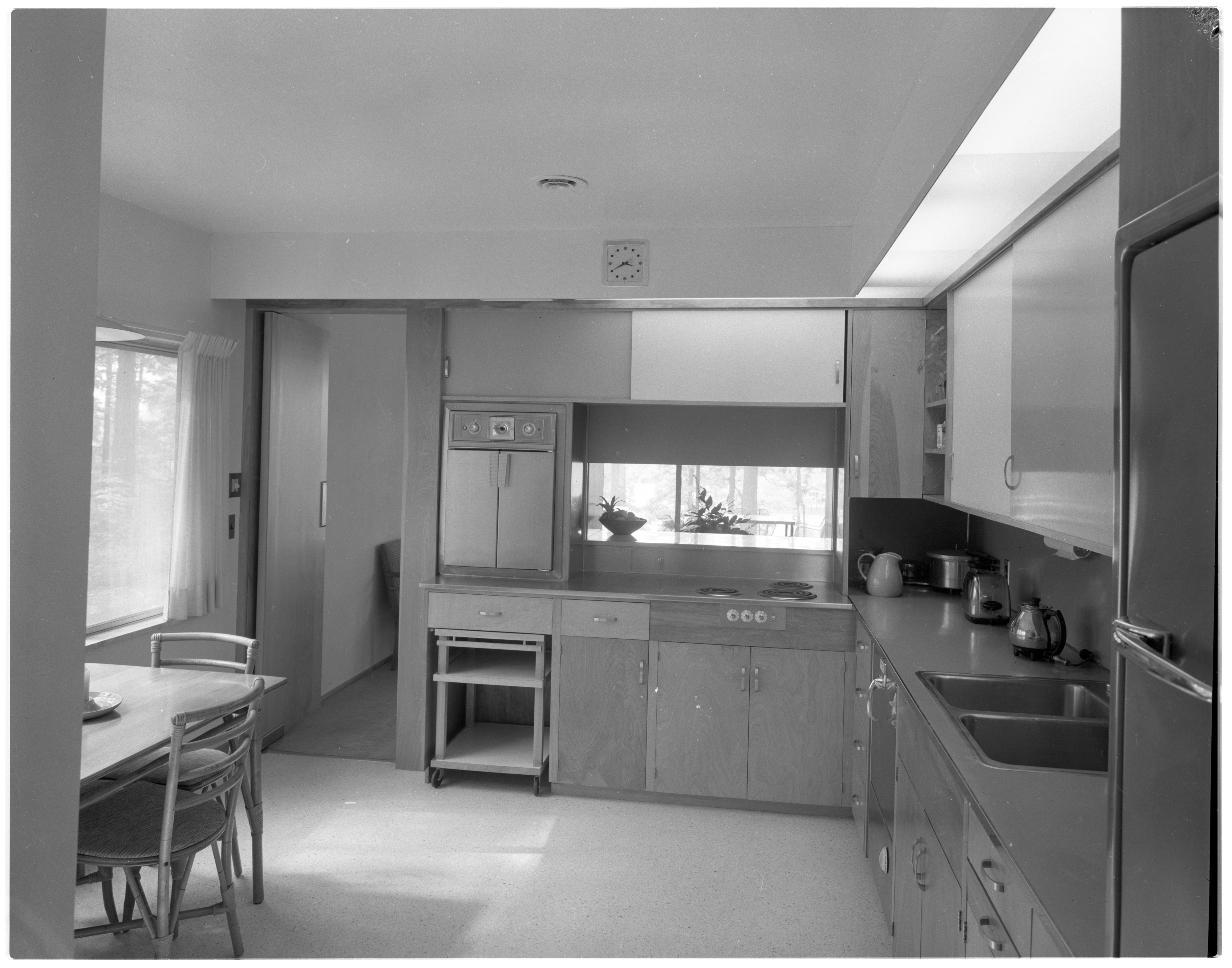 Kitchen Includes Dining Area In Moore Home, June 1958 image