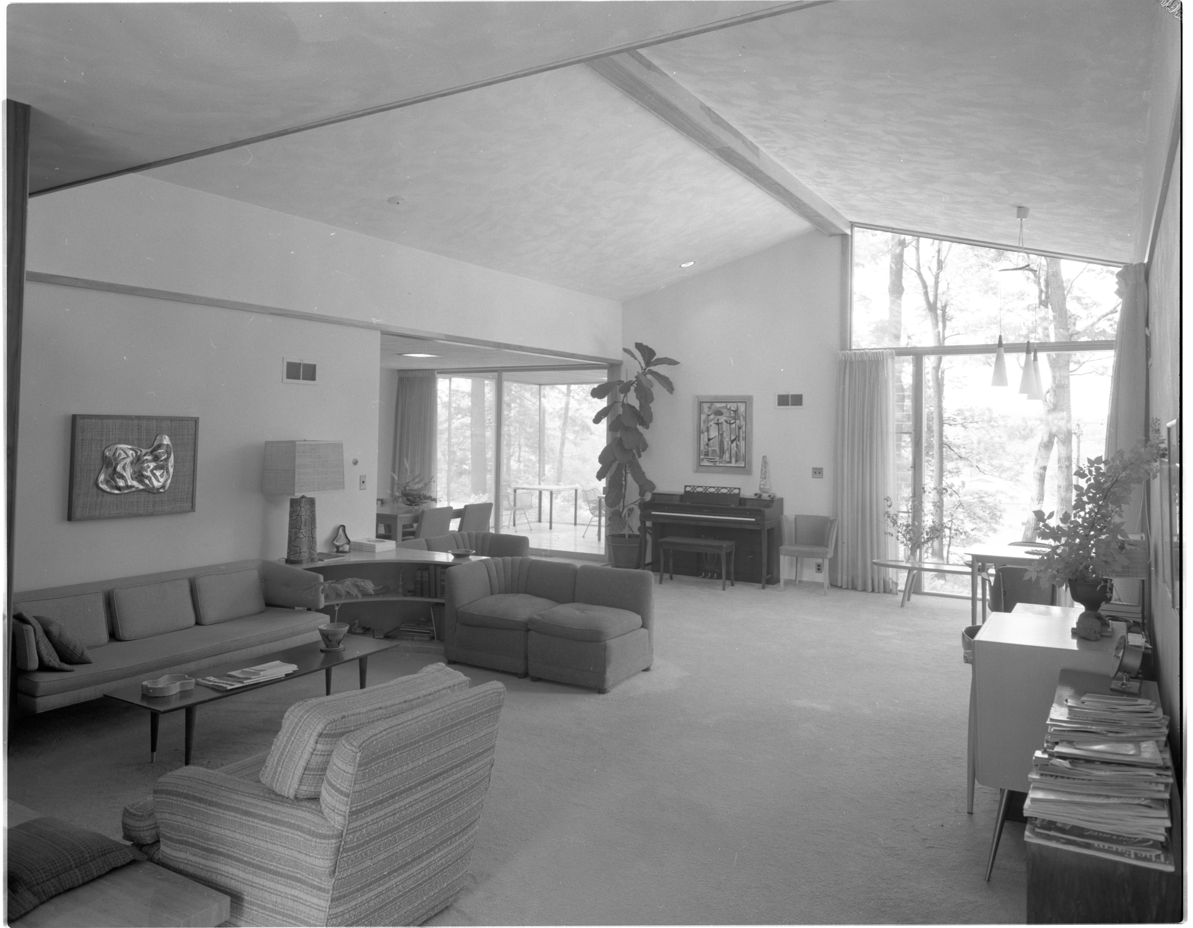 Wall of Windows Adds Light To Every Aspect of Moore Home, June 1958 image