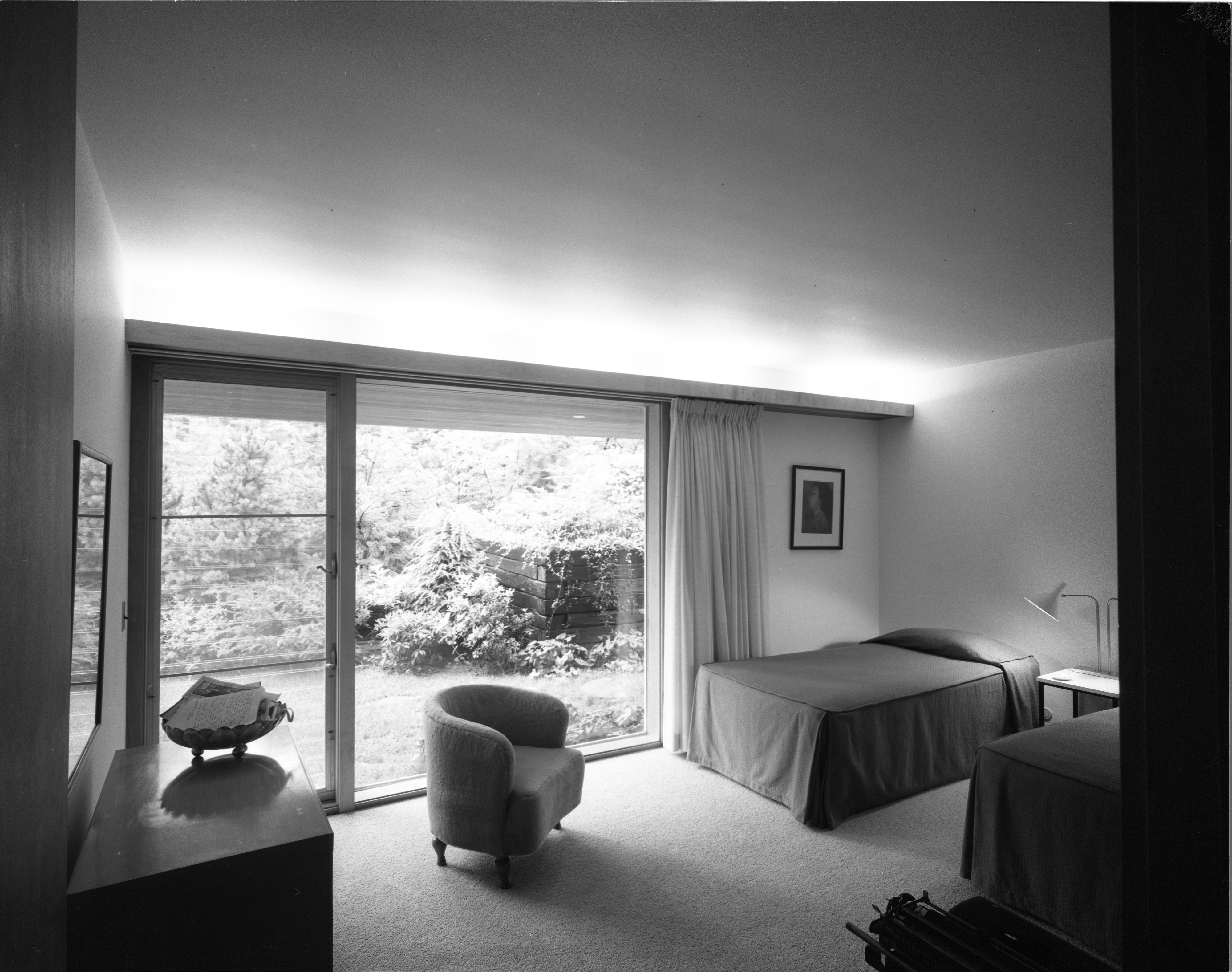 Guest Bedroom In the Pryor Mid-Century Modern Home In Barton Hills, July 1960 image