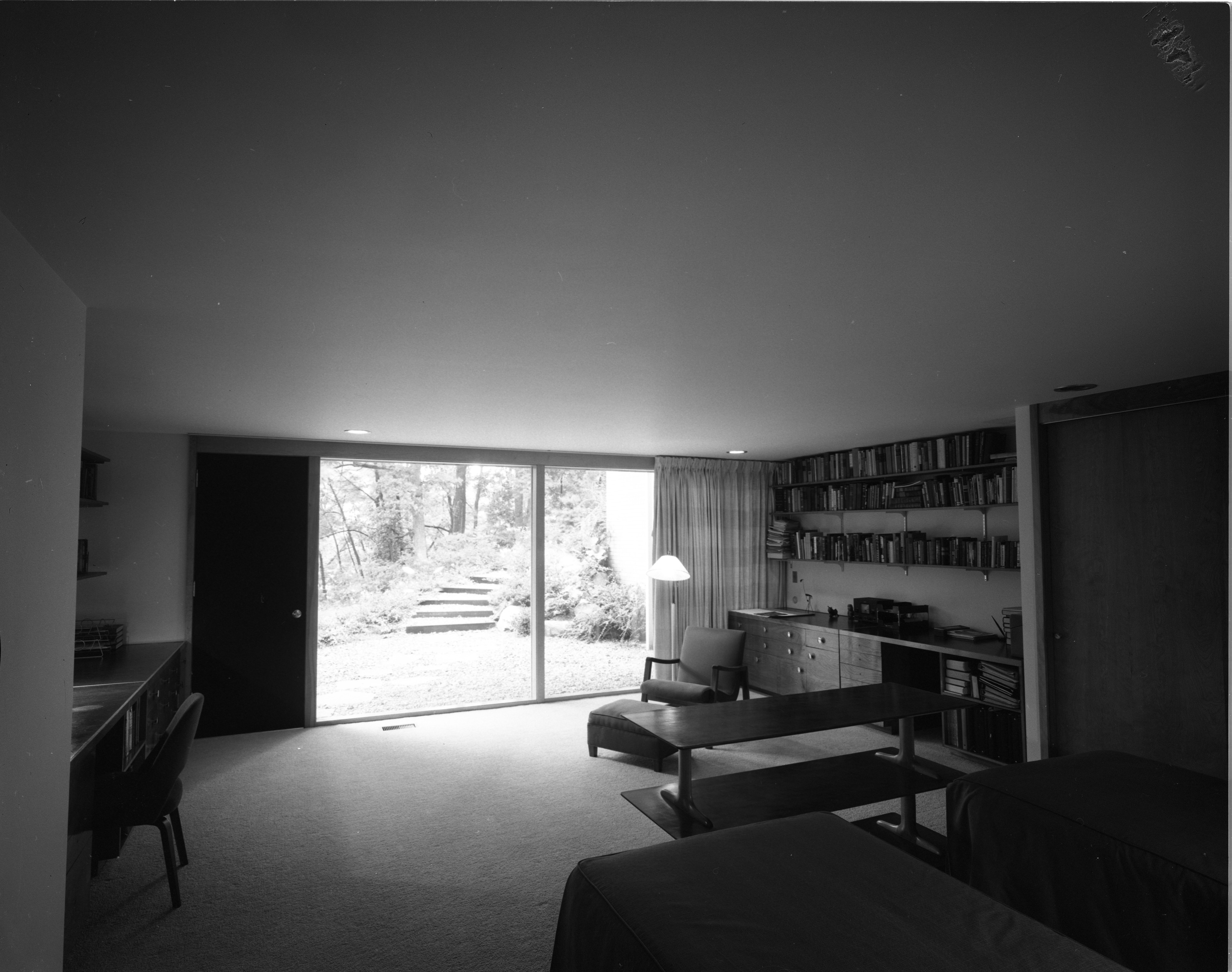 Sons' Room Features Built-In Desk In the Pryor Mid-Century Modern Home In Barton Hills, July 1960 image