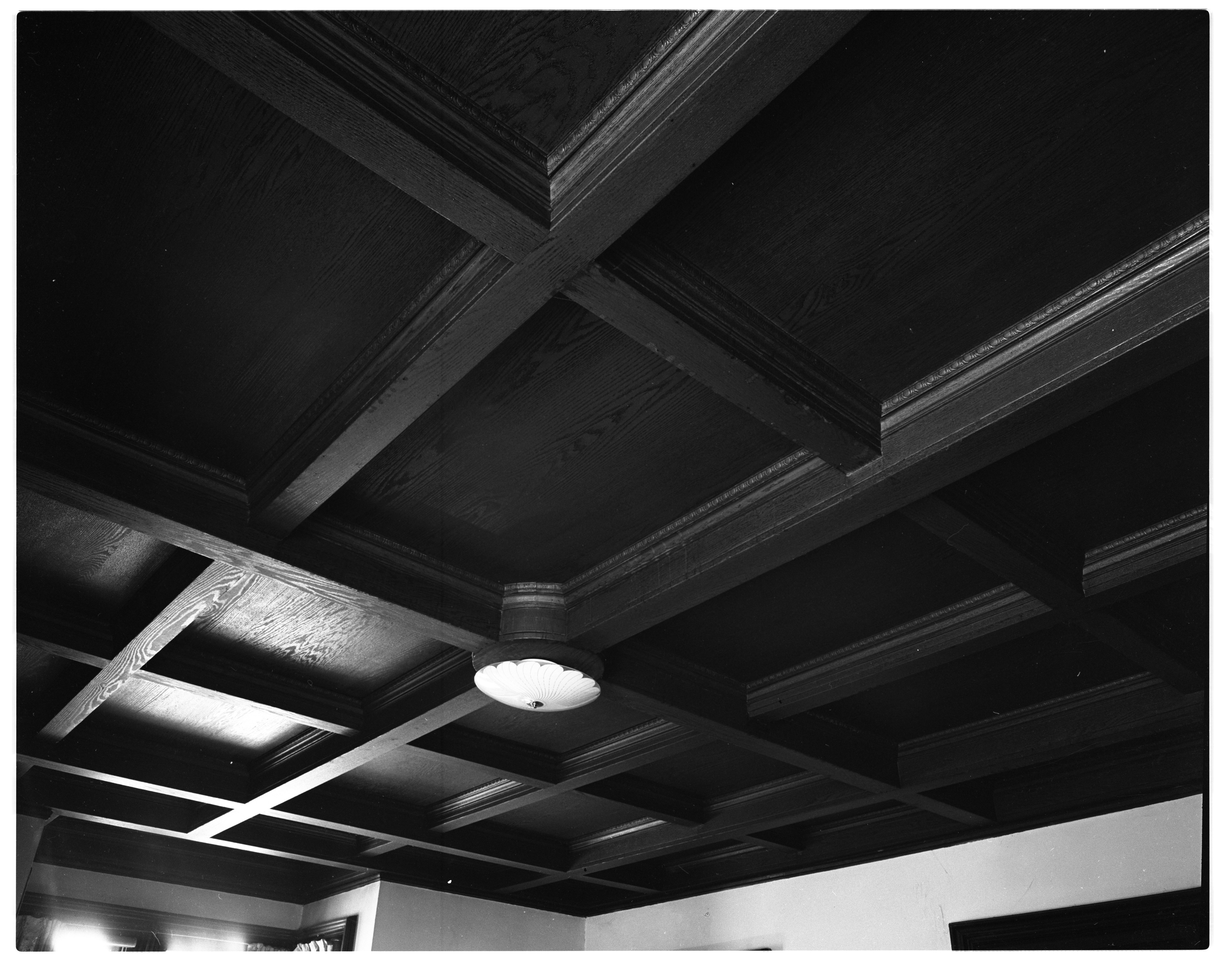 Beal Home, Ceiling Detail, February 1956 image