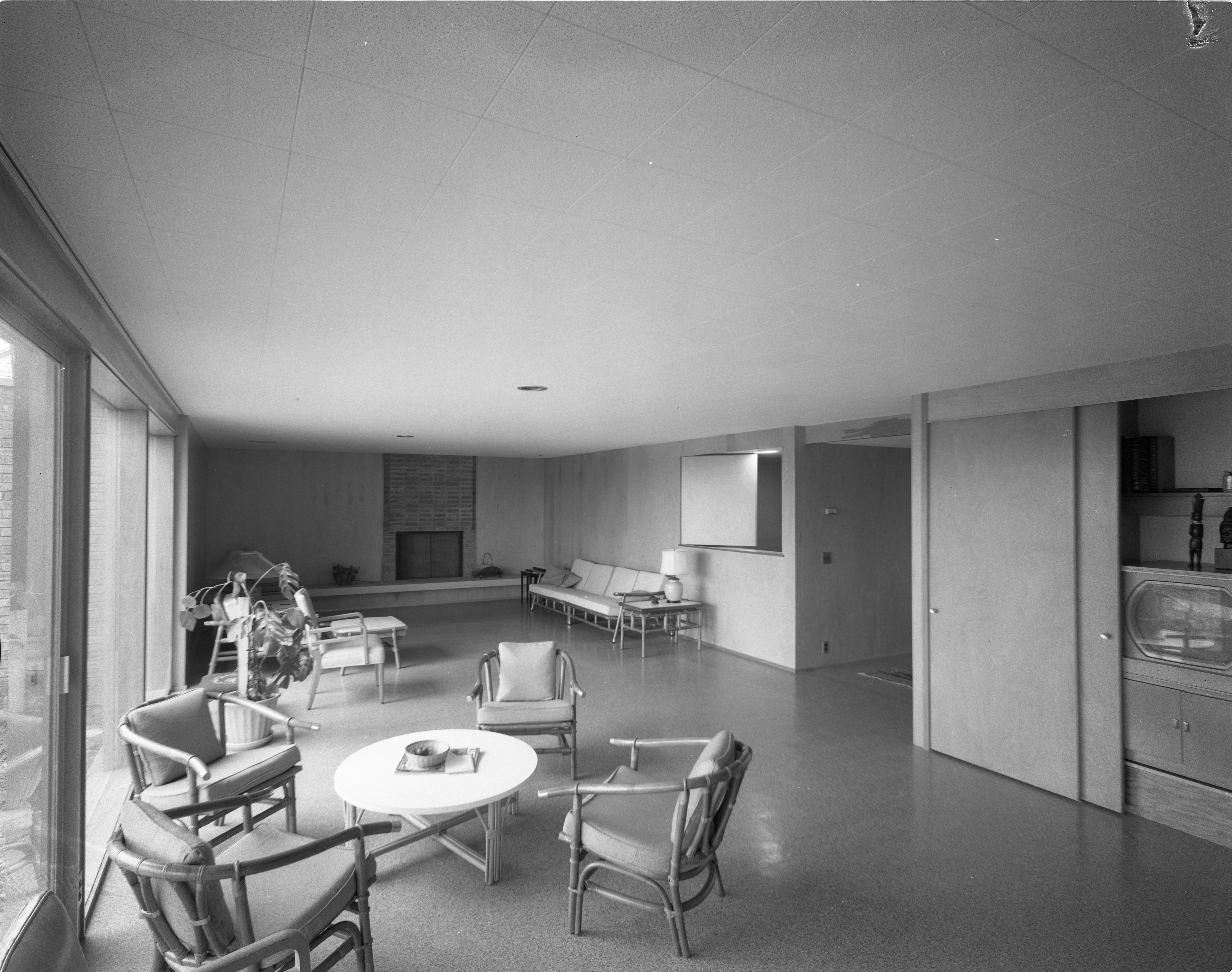 Recreation Room In Mid-Century Modern Dingman Home on Chestnut Drive, March 1960 image