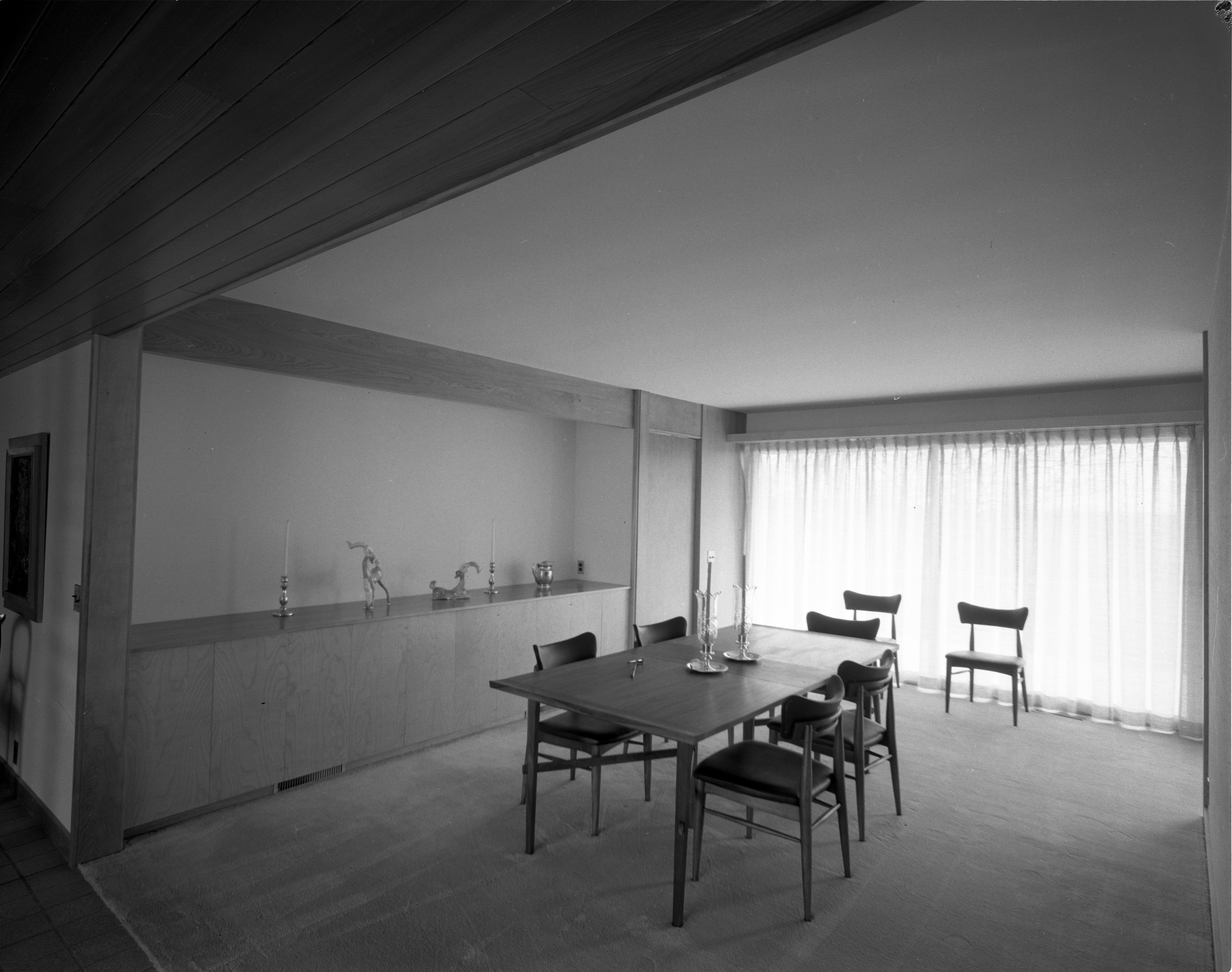 Dining Room In Mid-Century Modern Dingman Home on Chestnut Drive, March 1960 image