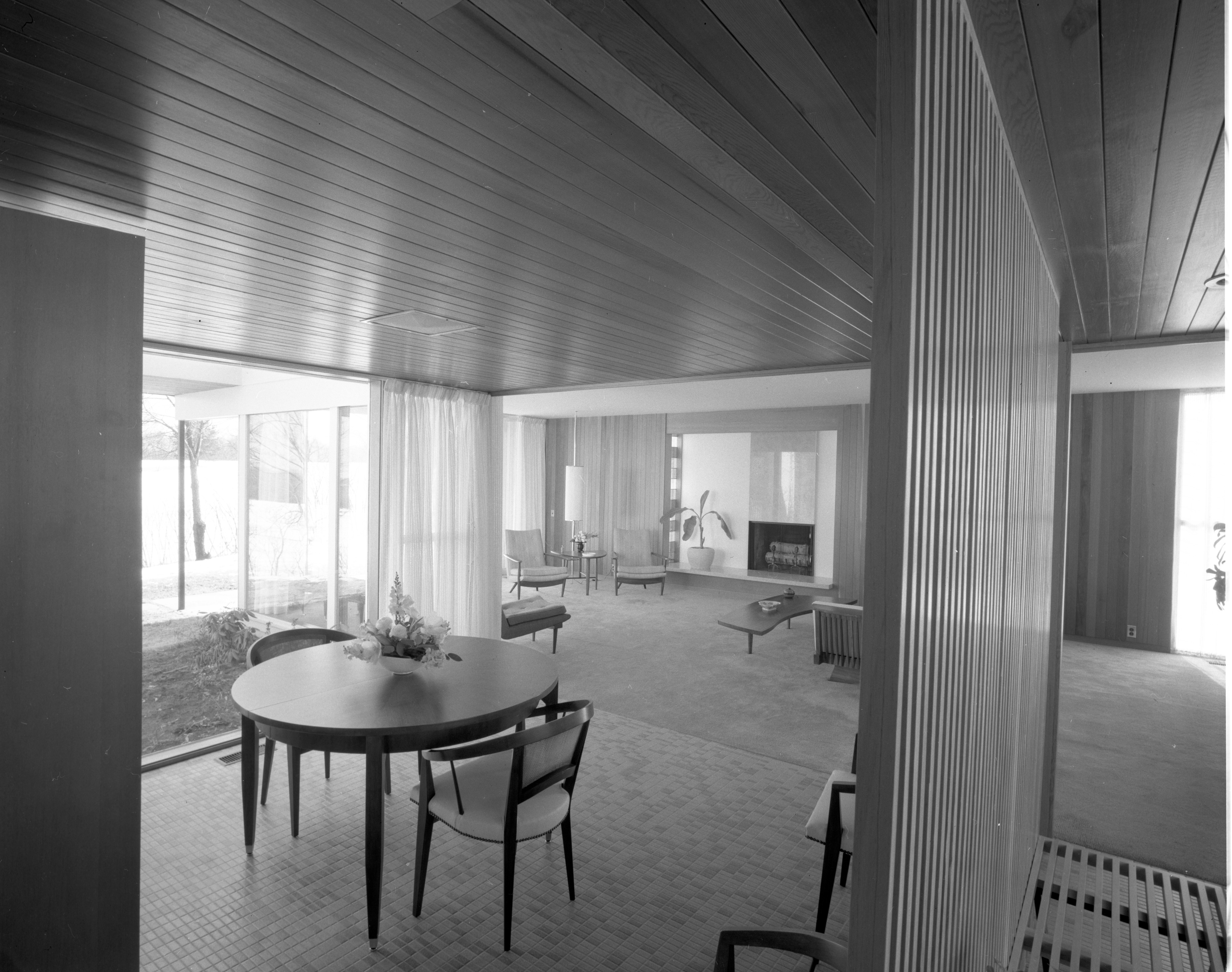 Dining Area of Botch Home on Chestnut Rd , March 1959 image