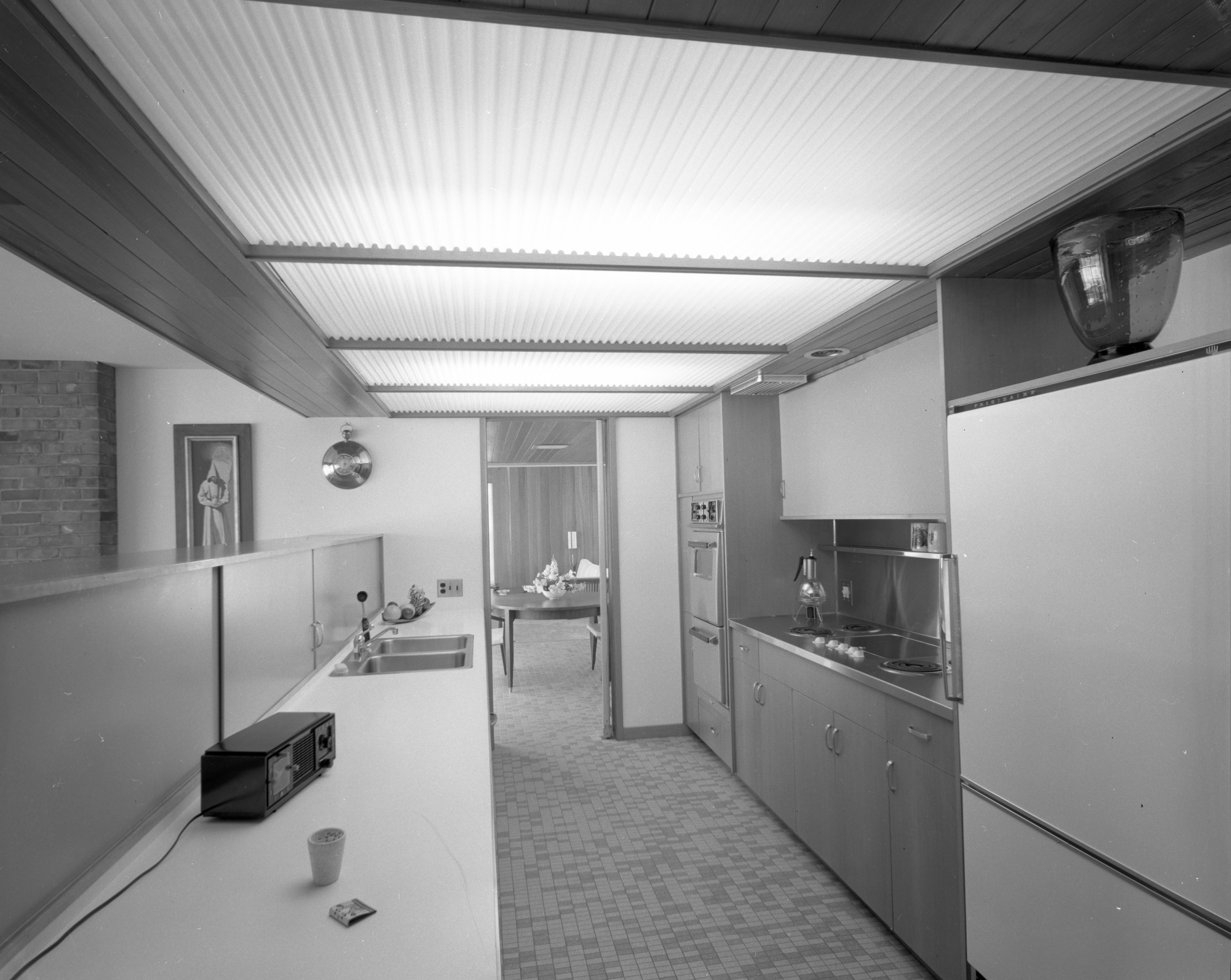 Plastic Ceiling and Skylight Features of Kitchen of Botch Home on Chestnut Rd , March 1959 image