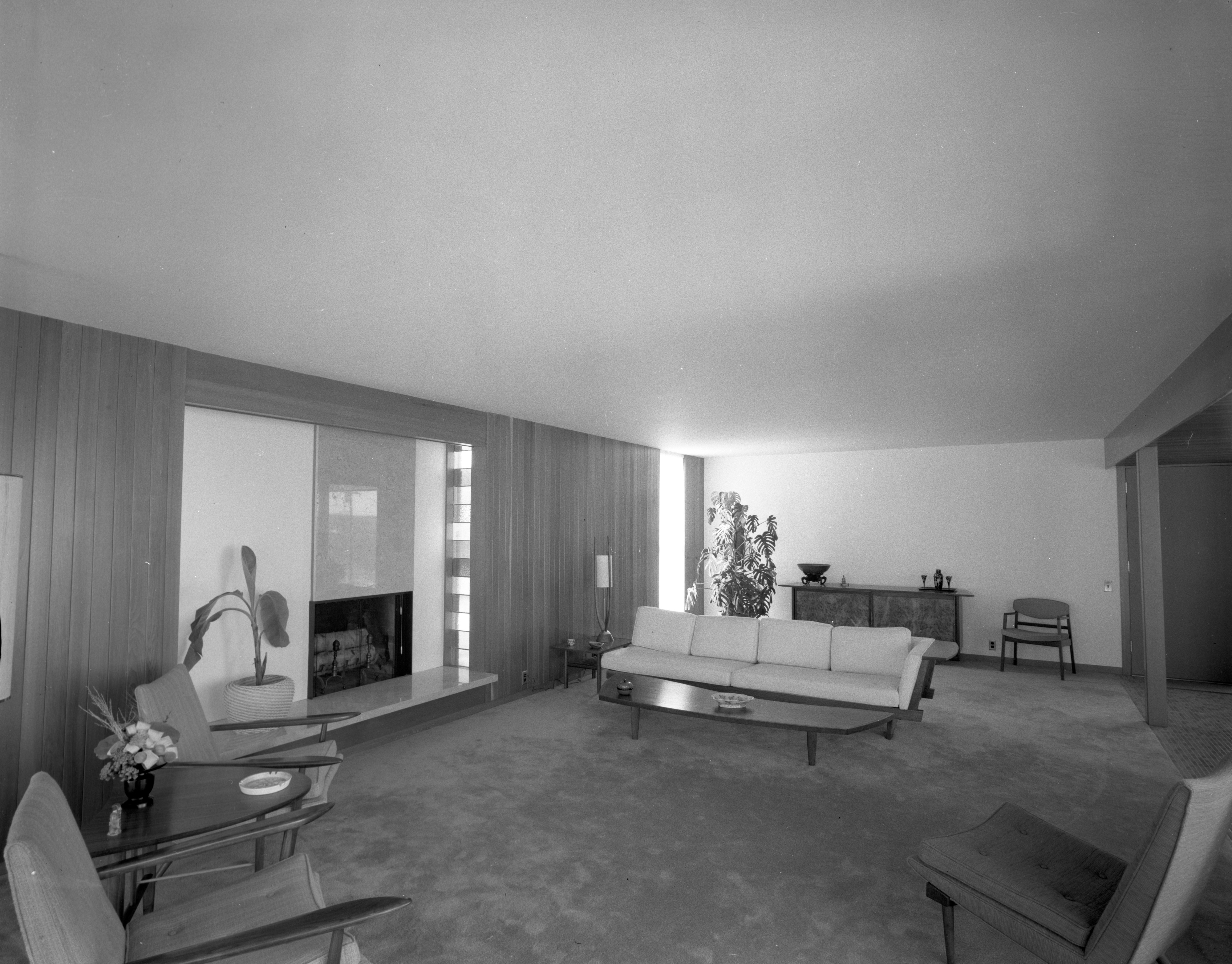 Formal Entertaining Focus of Living Room of Botch Home, March 1959 image