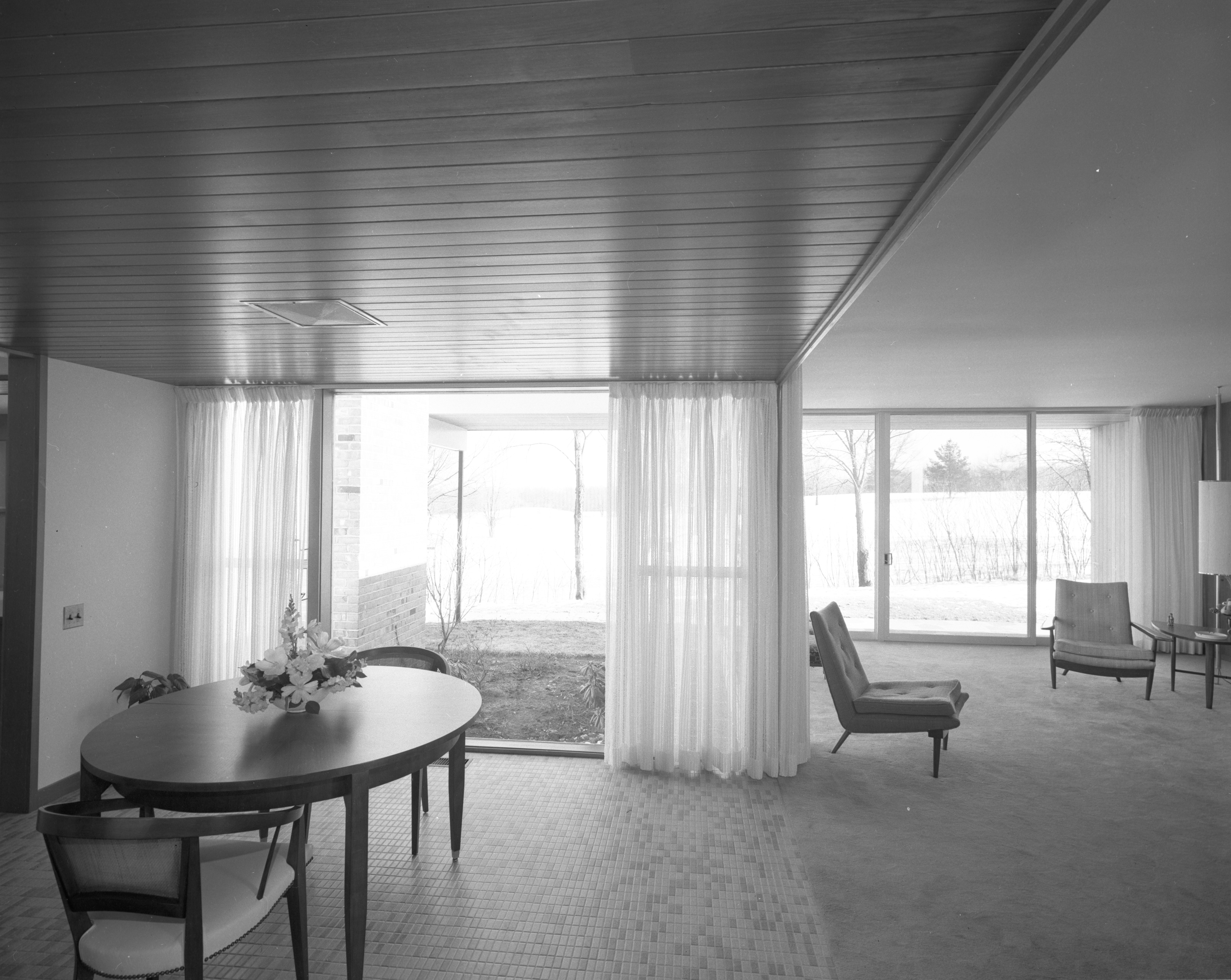Paneling Provides Coziness in Dining Area of Botch Home, March 1959 image