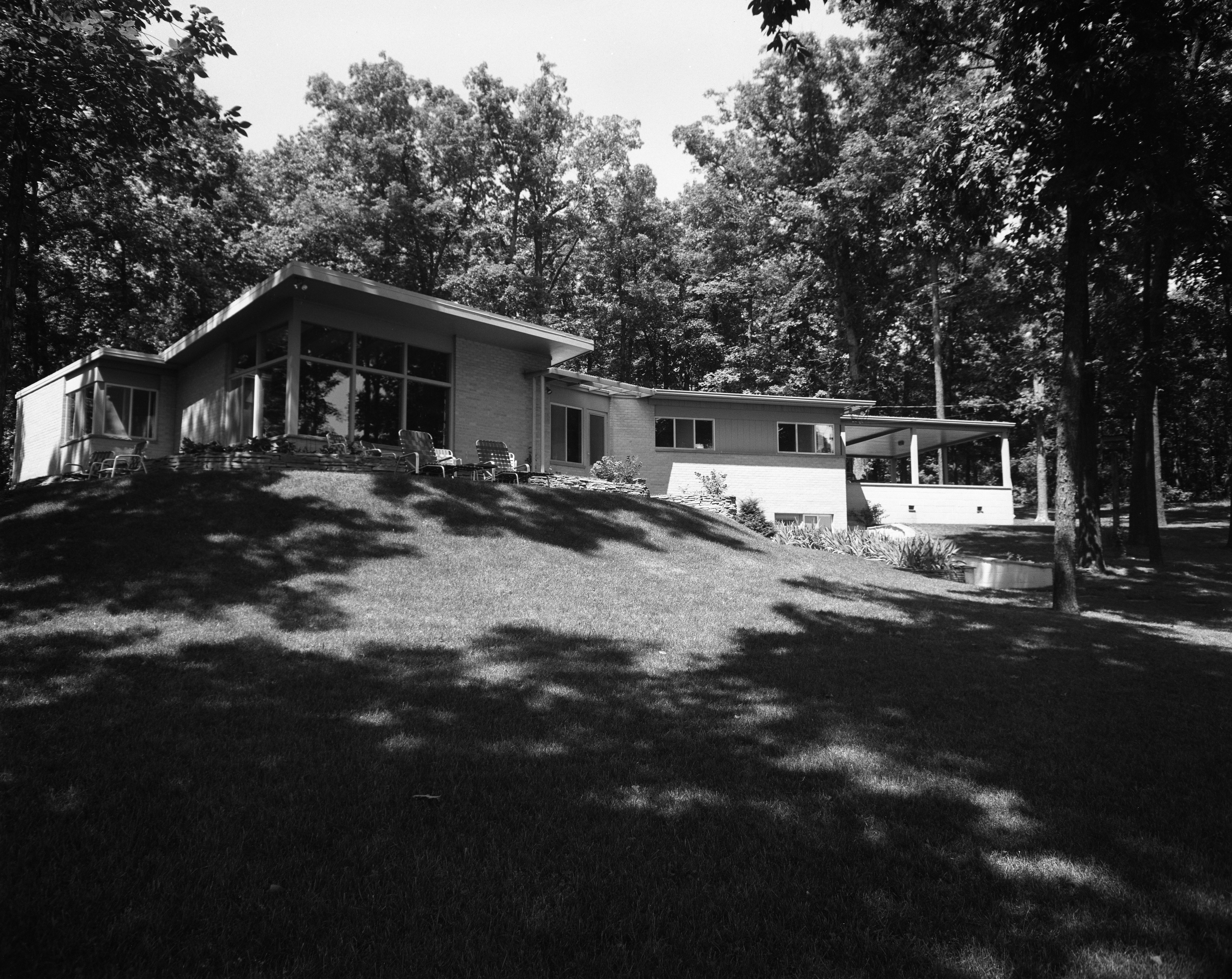 Brown Family Mid-Century Modern Home on N Maple Road, July 1956 image