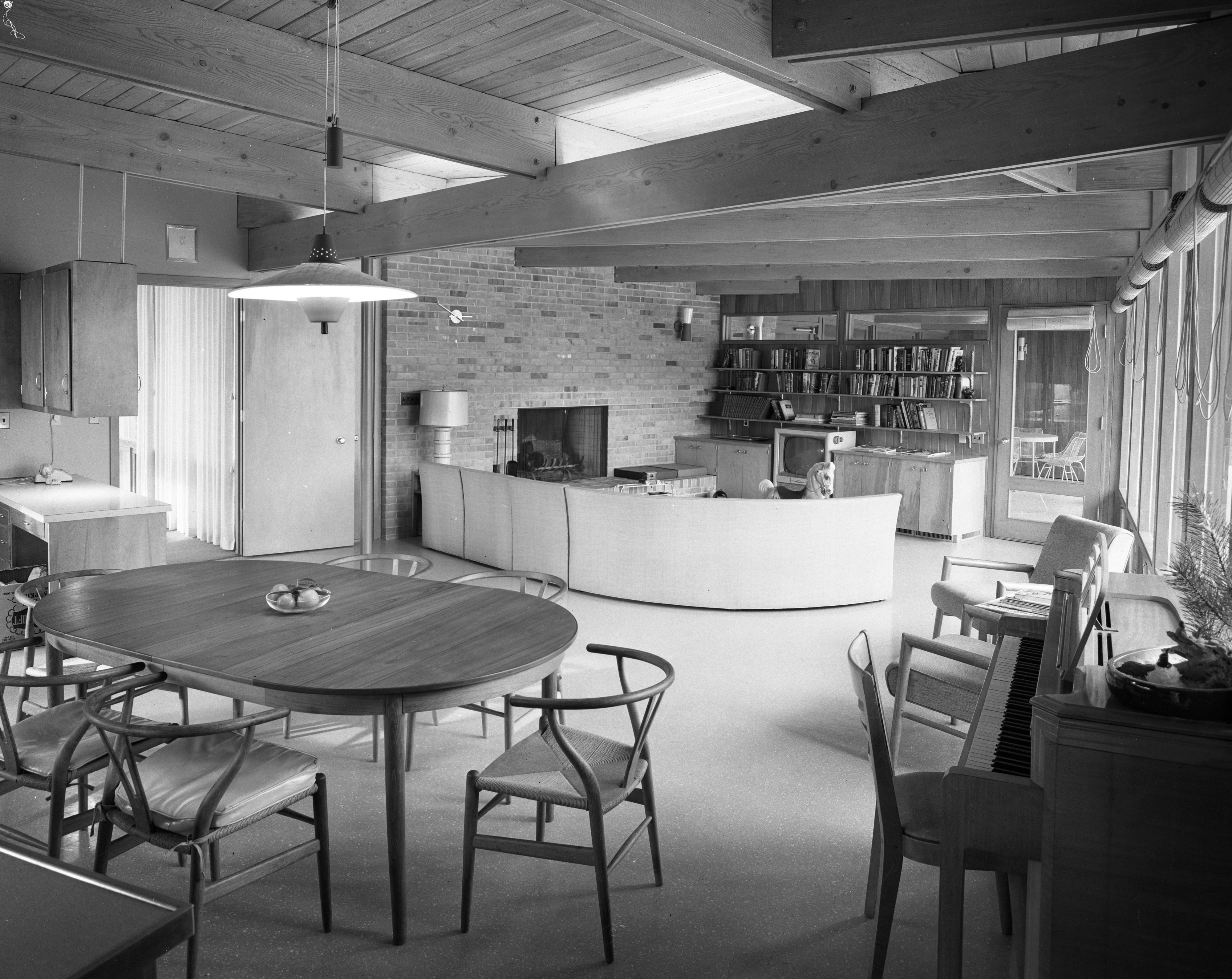 Family Room in Darrell and Jenny Campbell Home, January 1957 image