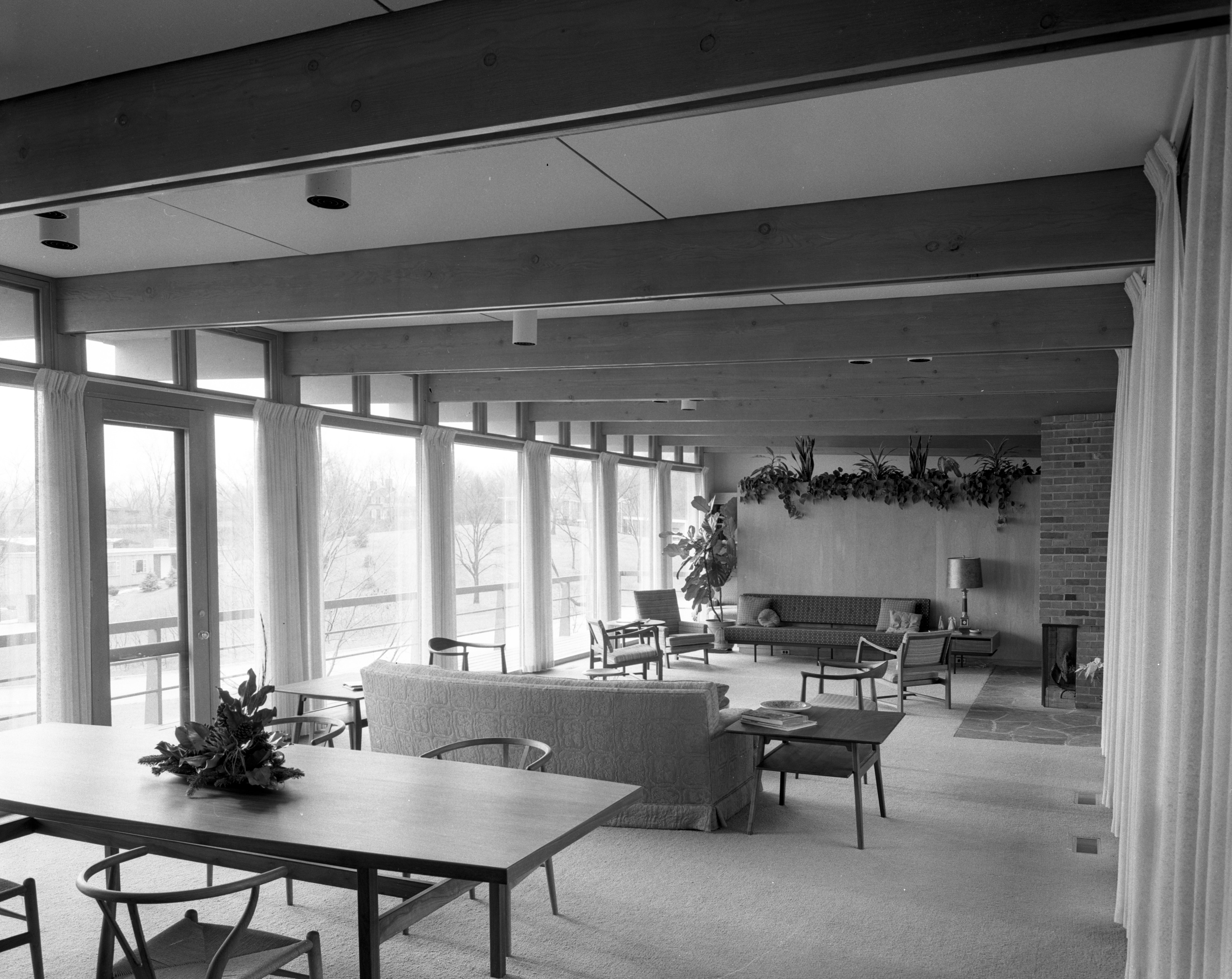 Living Room in Darrell and Jenny Campbell Home, January 1957 image
