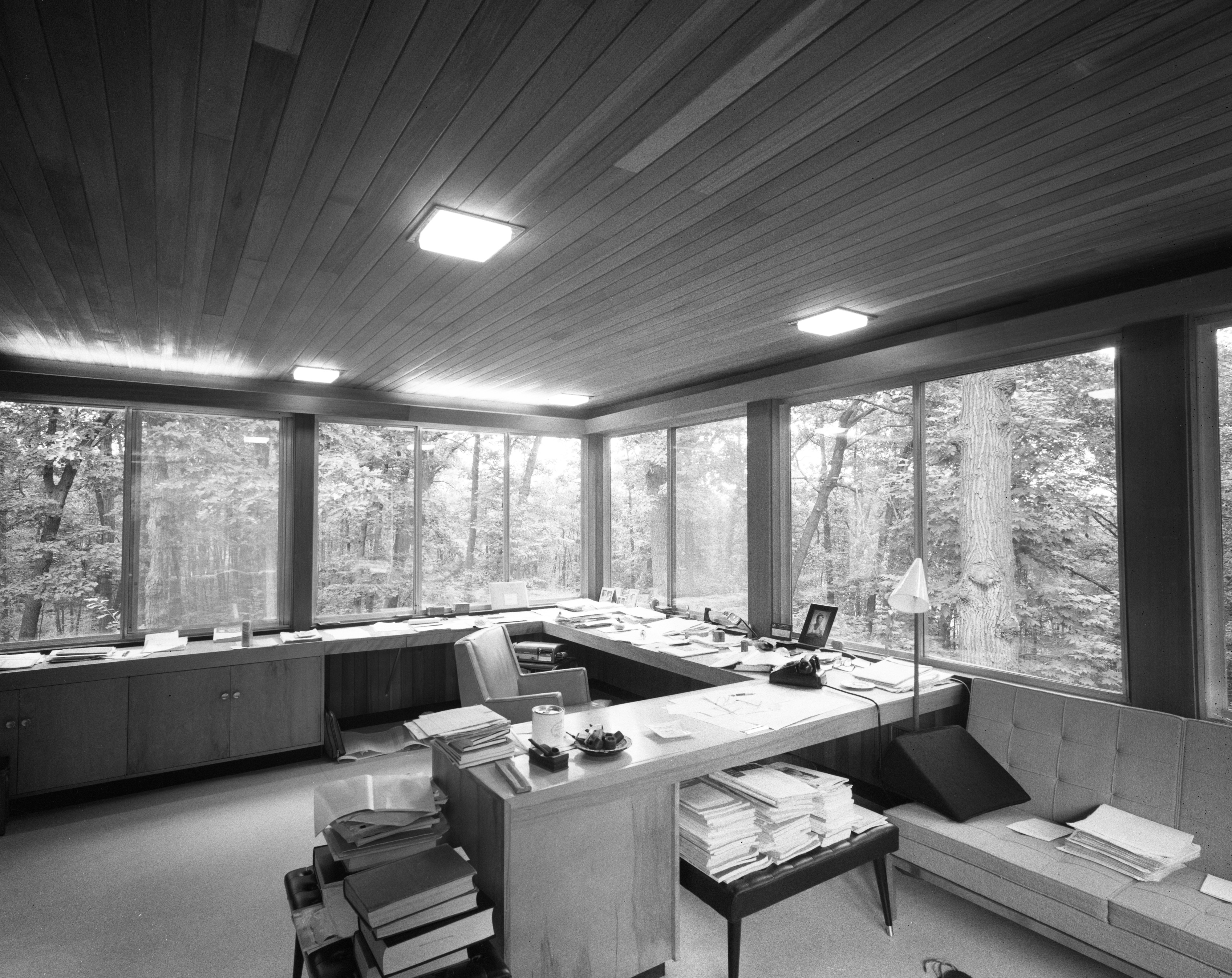 Study In Conn Contemporary Home At 200 Orchard Hill Drive, August 1960 image