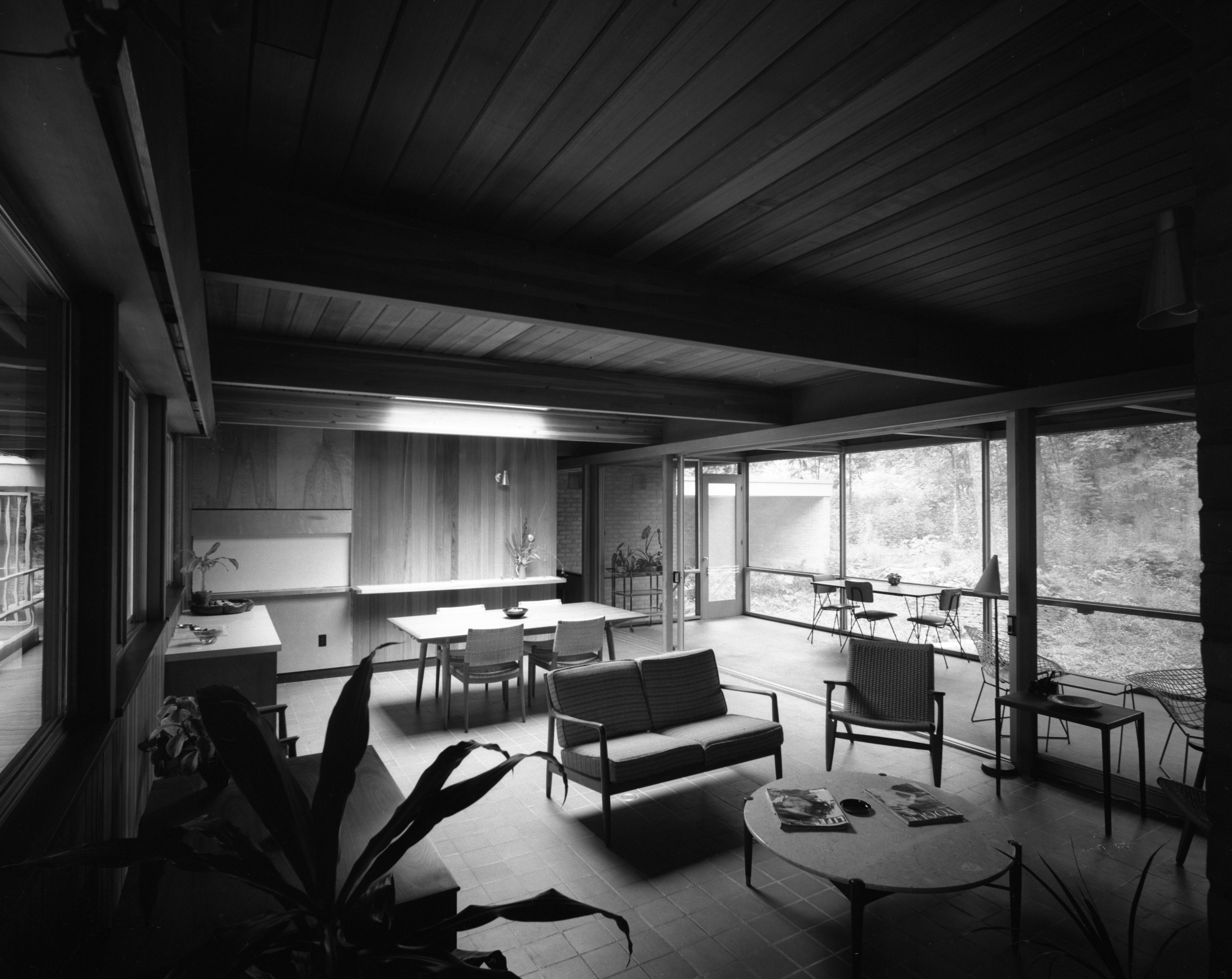 Family Room In Conn Contemporary Home At 200 Orchard Hill Drive, August 1960 image