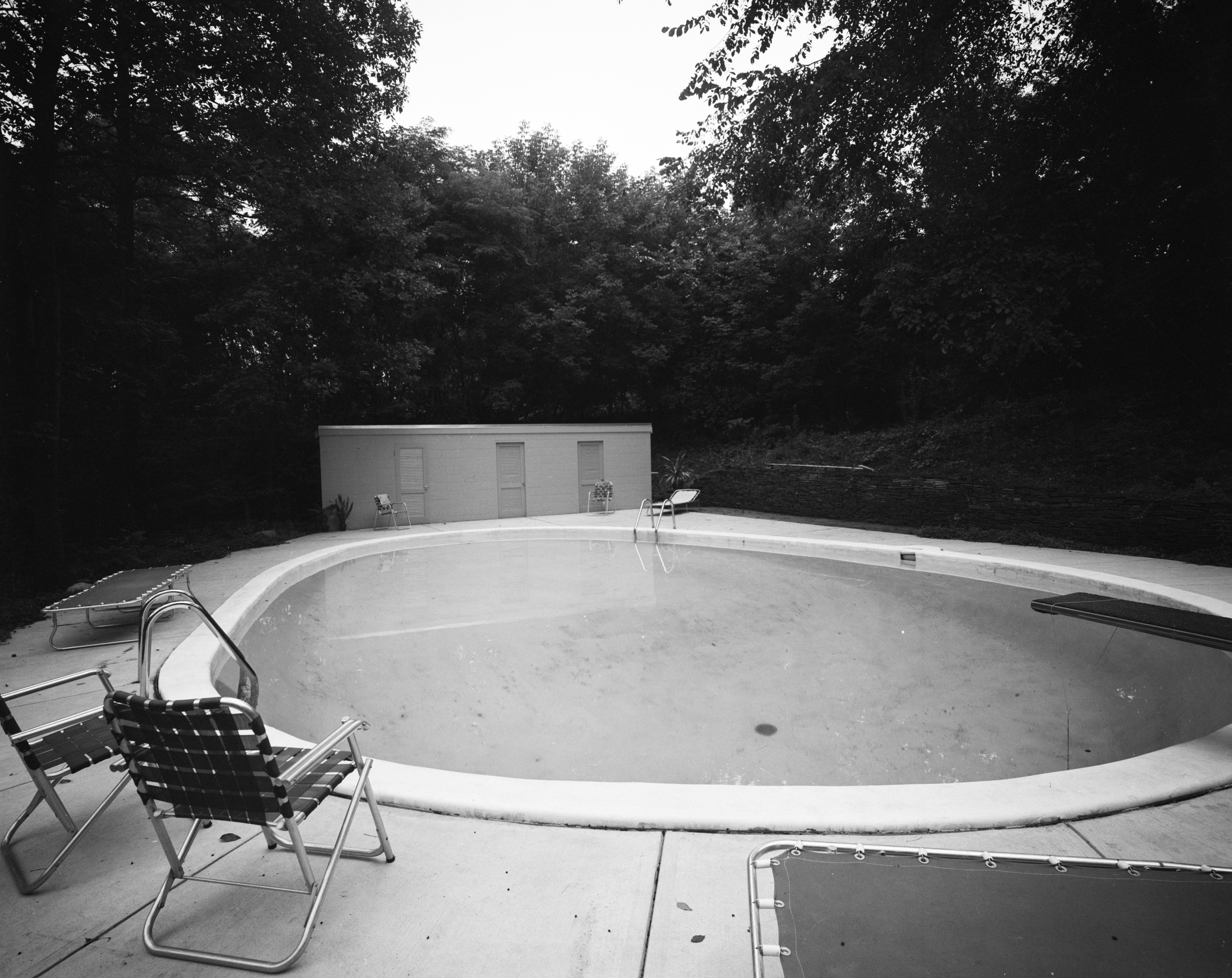 Swimming Pool In Conn Contemporary Home At 200 Orchard Hill Drive, August 1960 image