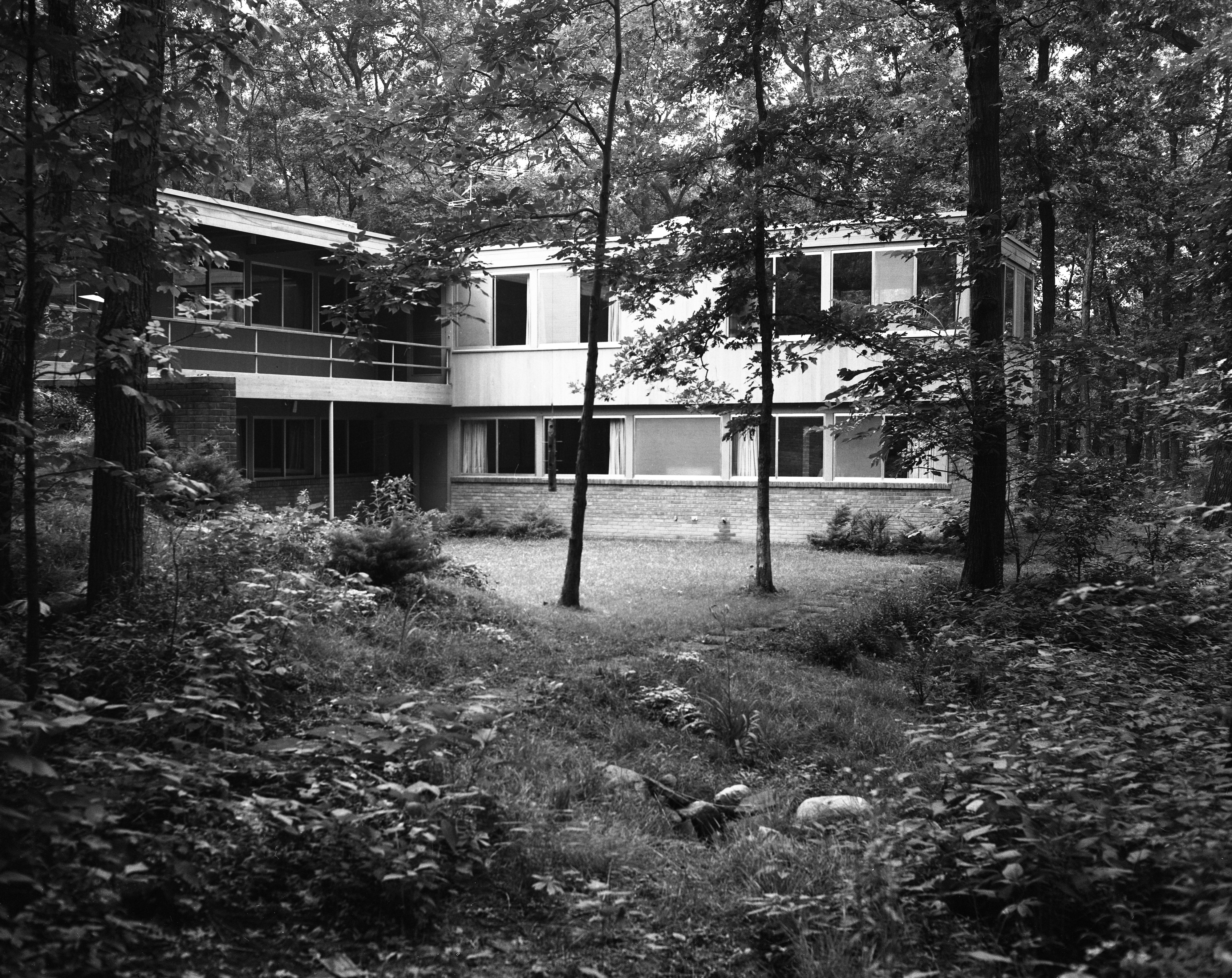 Conn Contemporary Home At 200 Orchard Hill Drive Overlooks Nichols Arboretum, August 1960 image