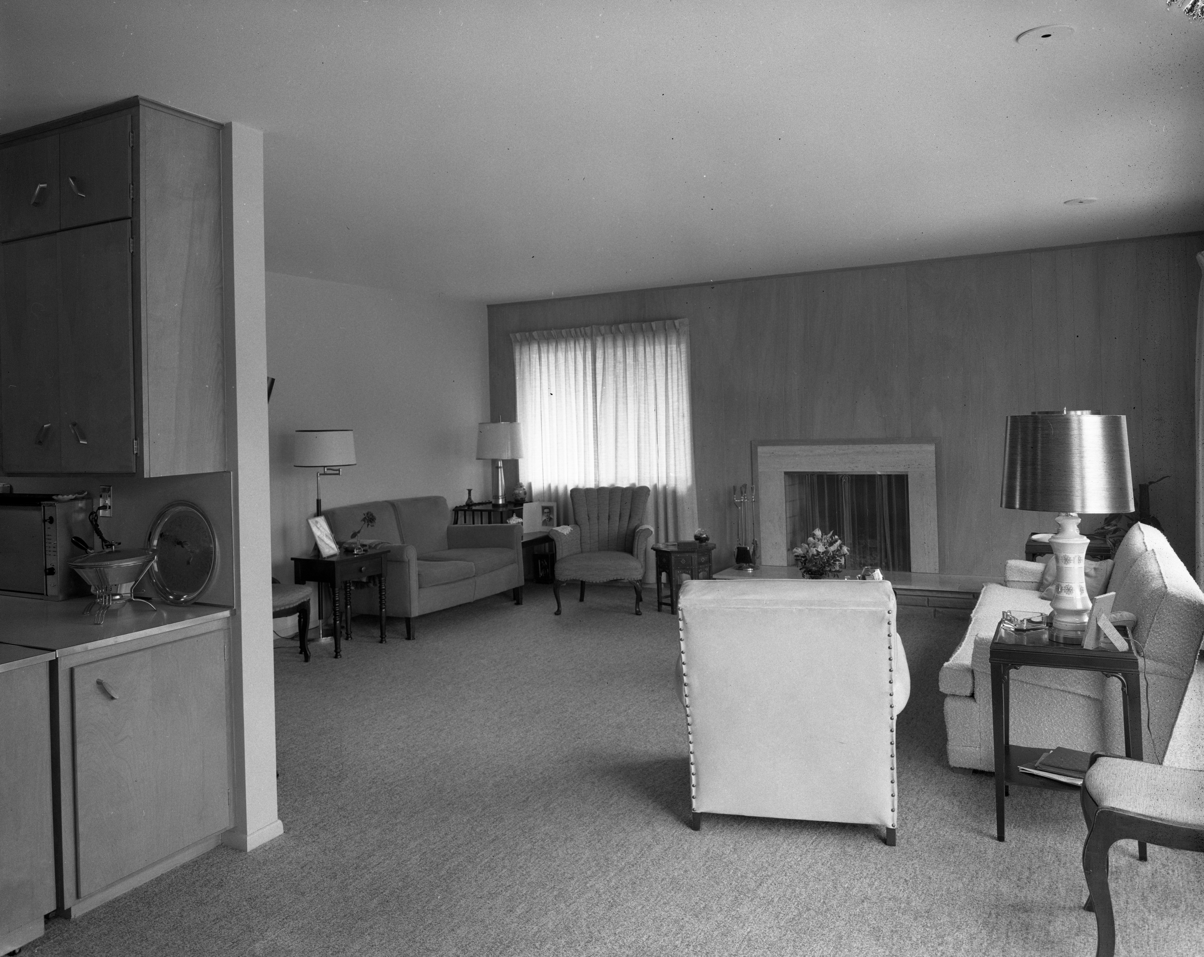 Living Room of Cecil and Dama Creal Home On Cedar Bend Drive, April 1958 image