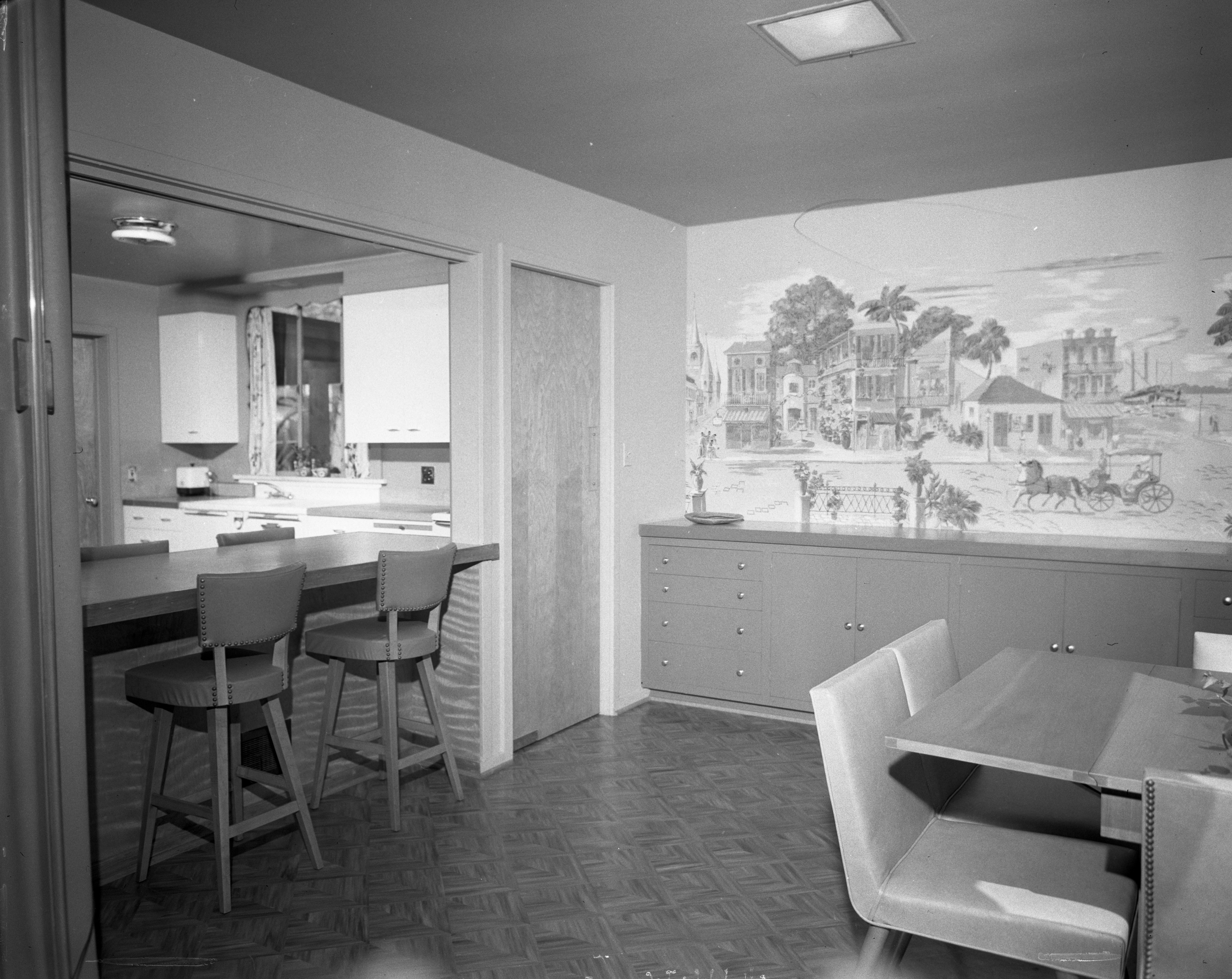 Dining Room In Mary & William Dobson Mid-Century Modern Home On Hermitage Rd., April 1951 image