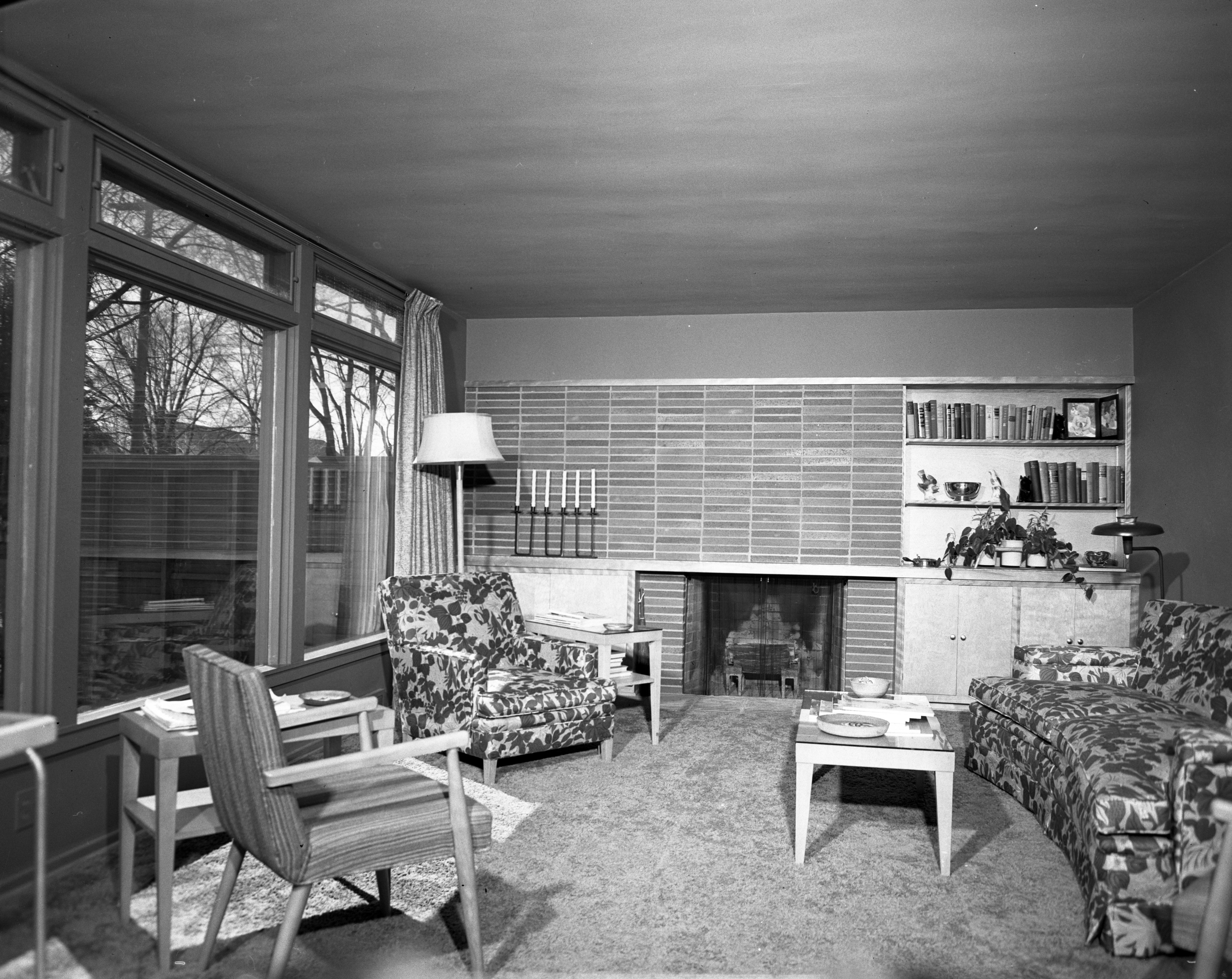 Living Room In Mary & William Dobson Mid-Century Modern Home On Hermitage Rd., April 1951 image