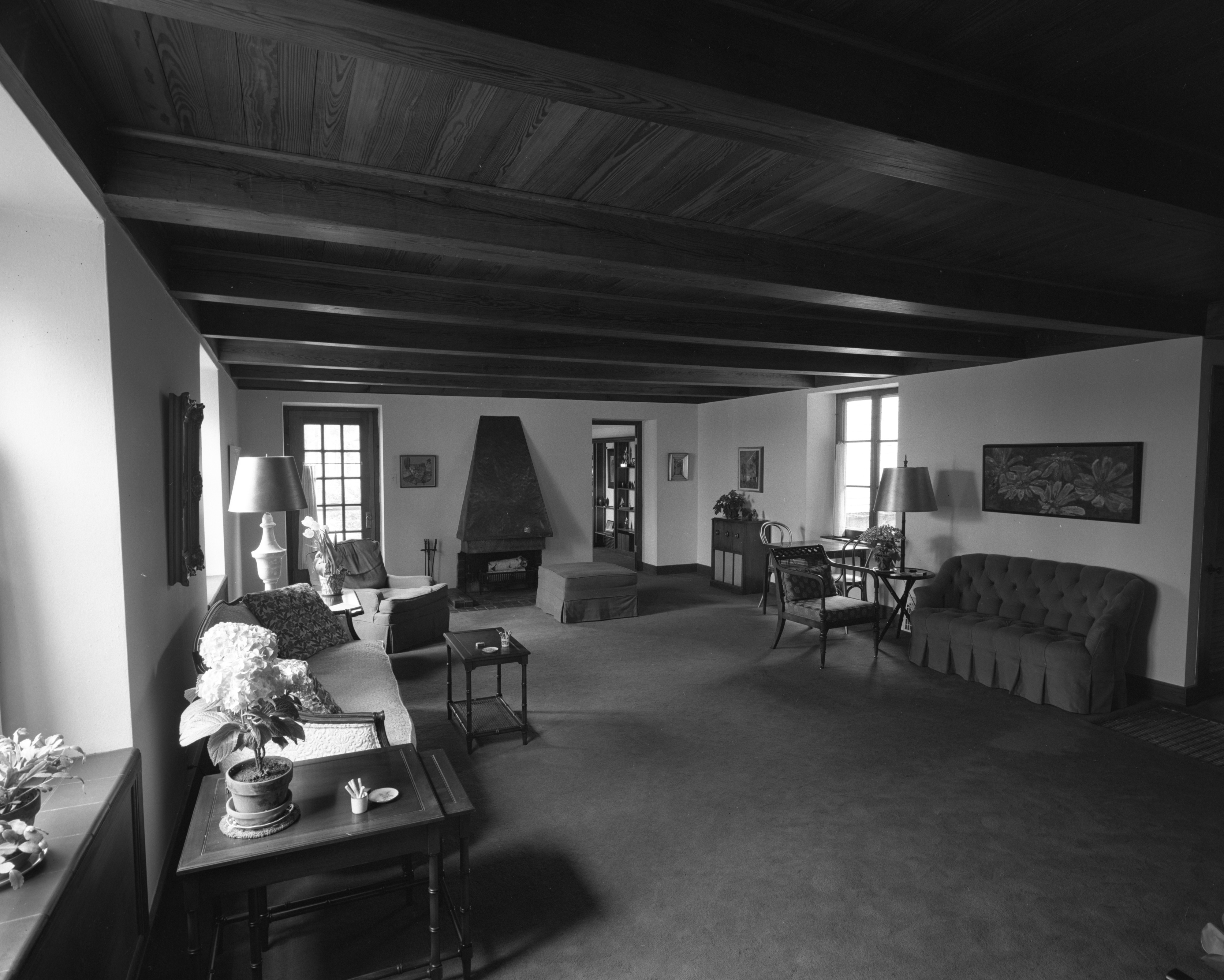 Spacious Living Room at Dr. William C. Grabb Residence, April 1967 image