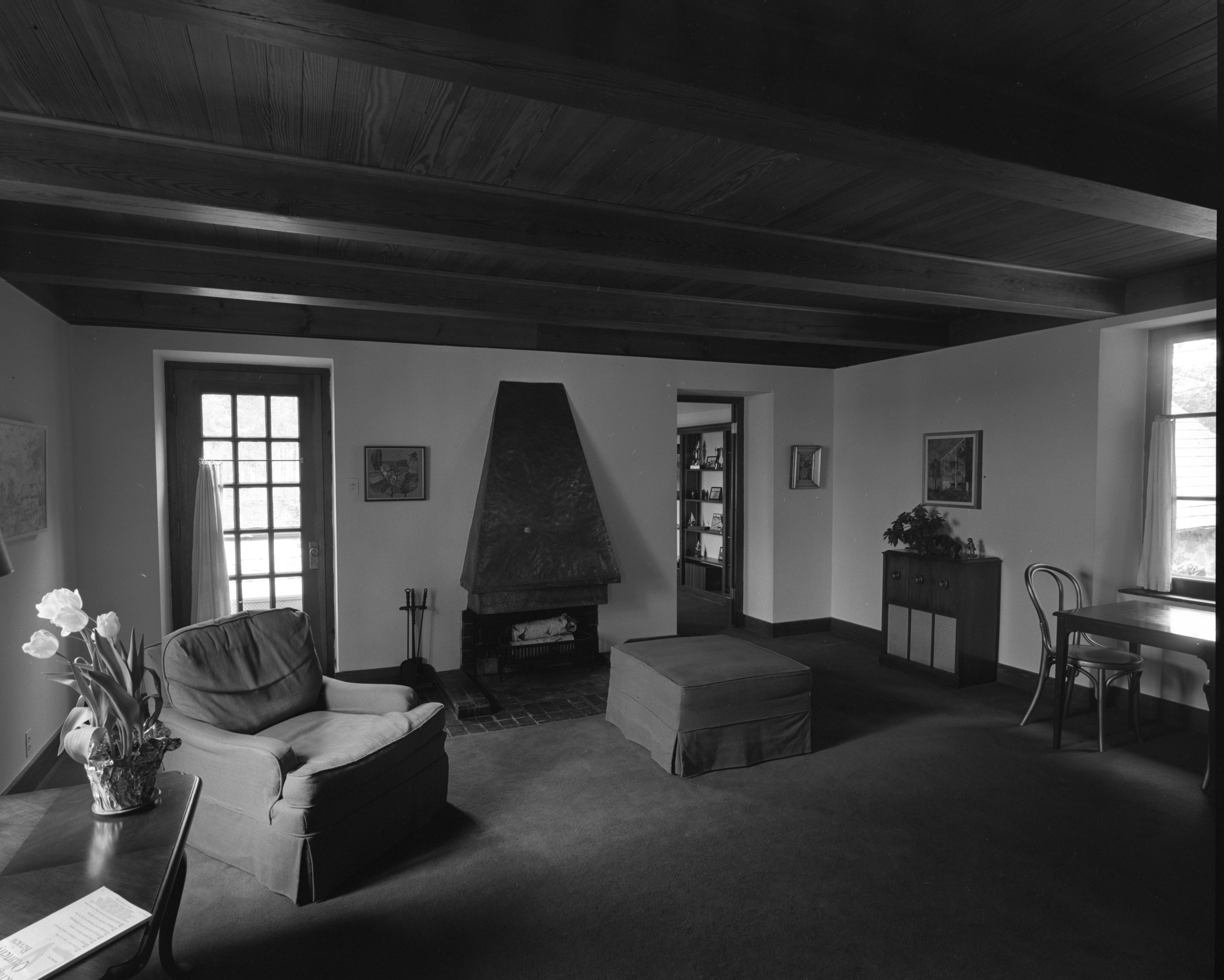 Natural Fireplace and Natural Lighting at Dr. William C. Grabb Residence, April 1967 image