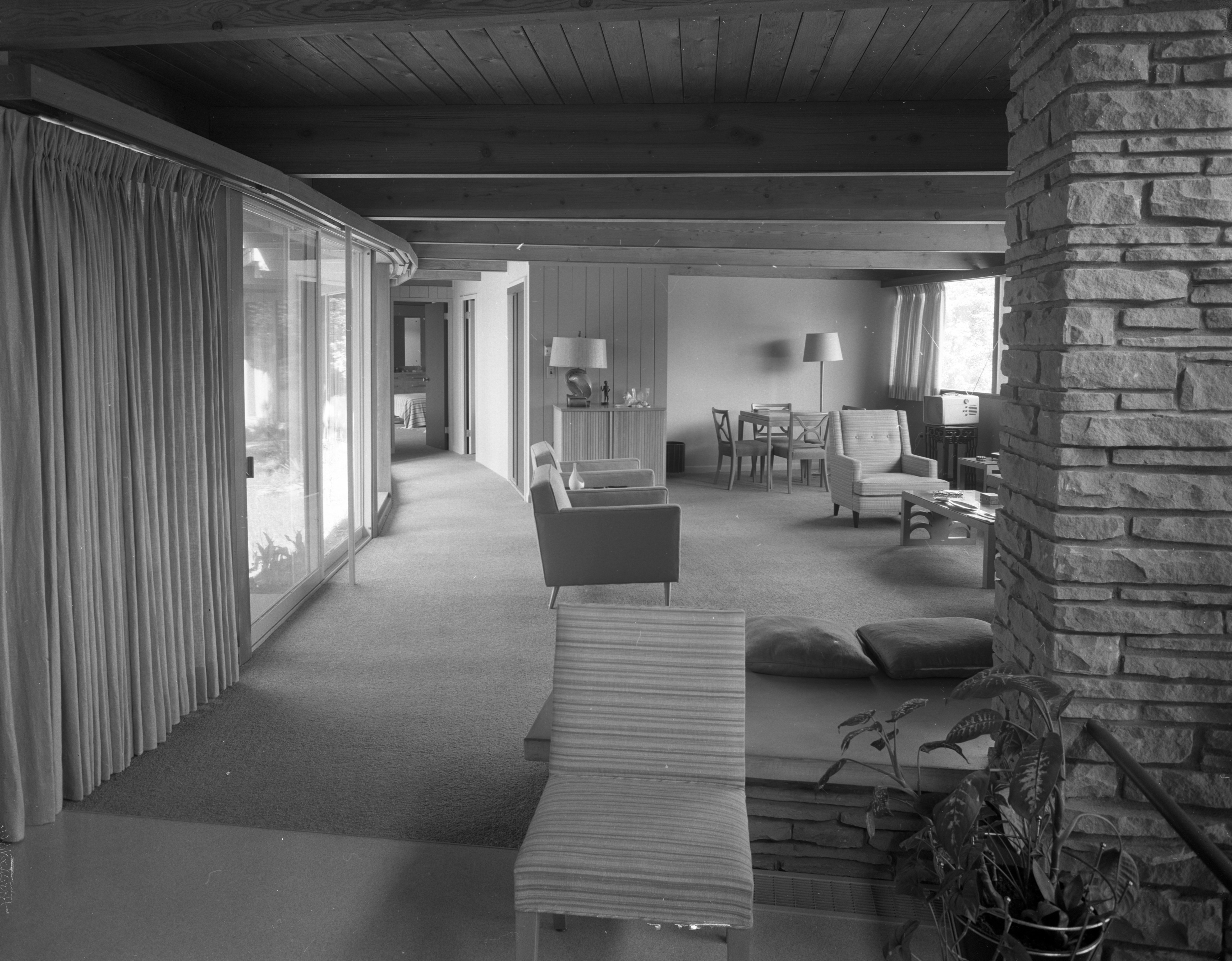 Hallway In Hodges' Mid-Century Modern Home On Highland Lane, September 1957 image
