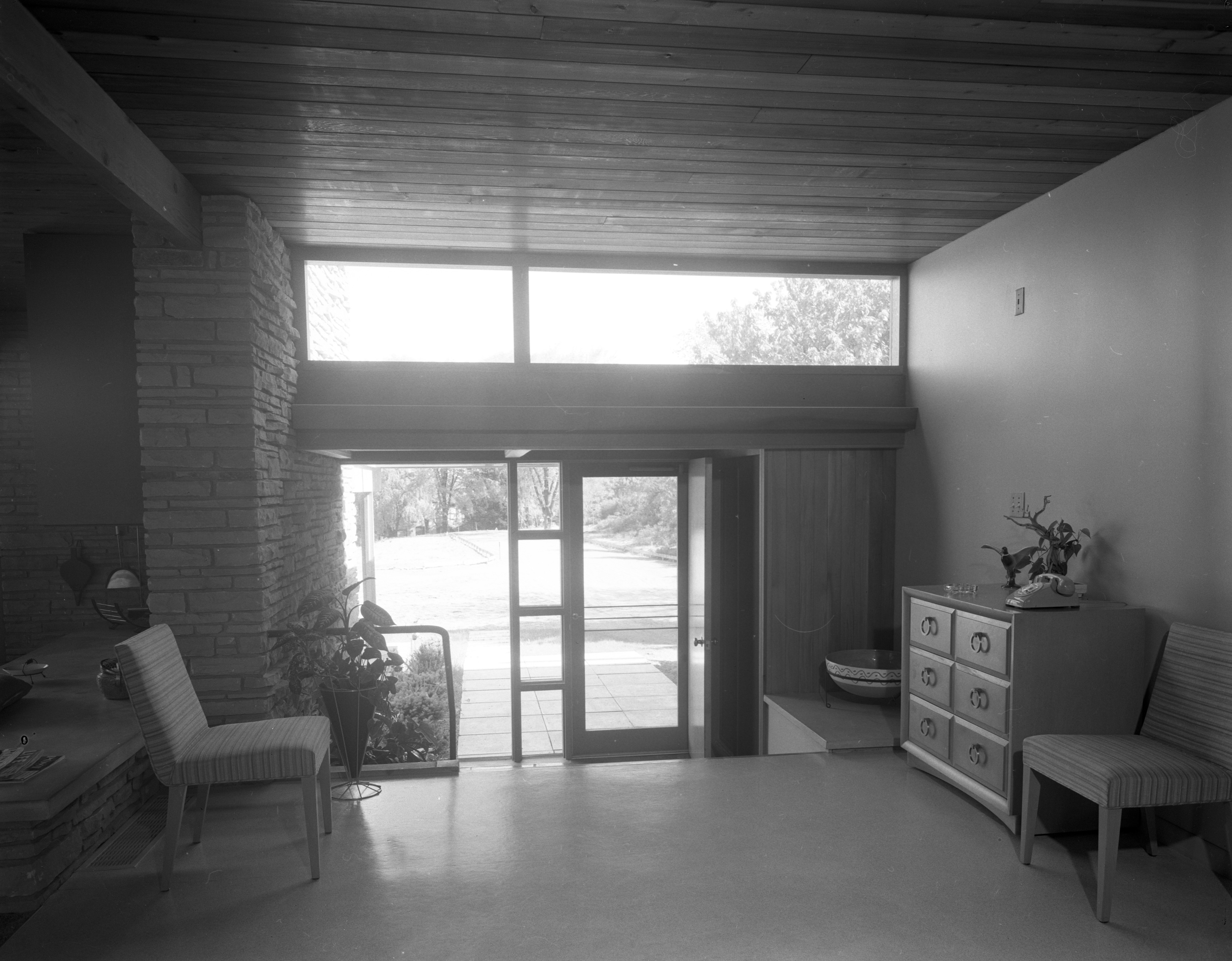 Entrance Hall In Hodges' Mid-Century Modern Home On Highland Lane, September 1957 image