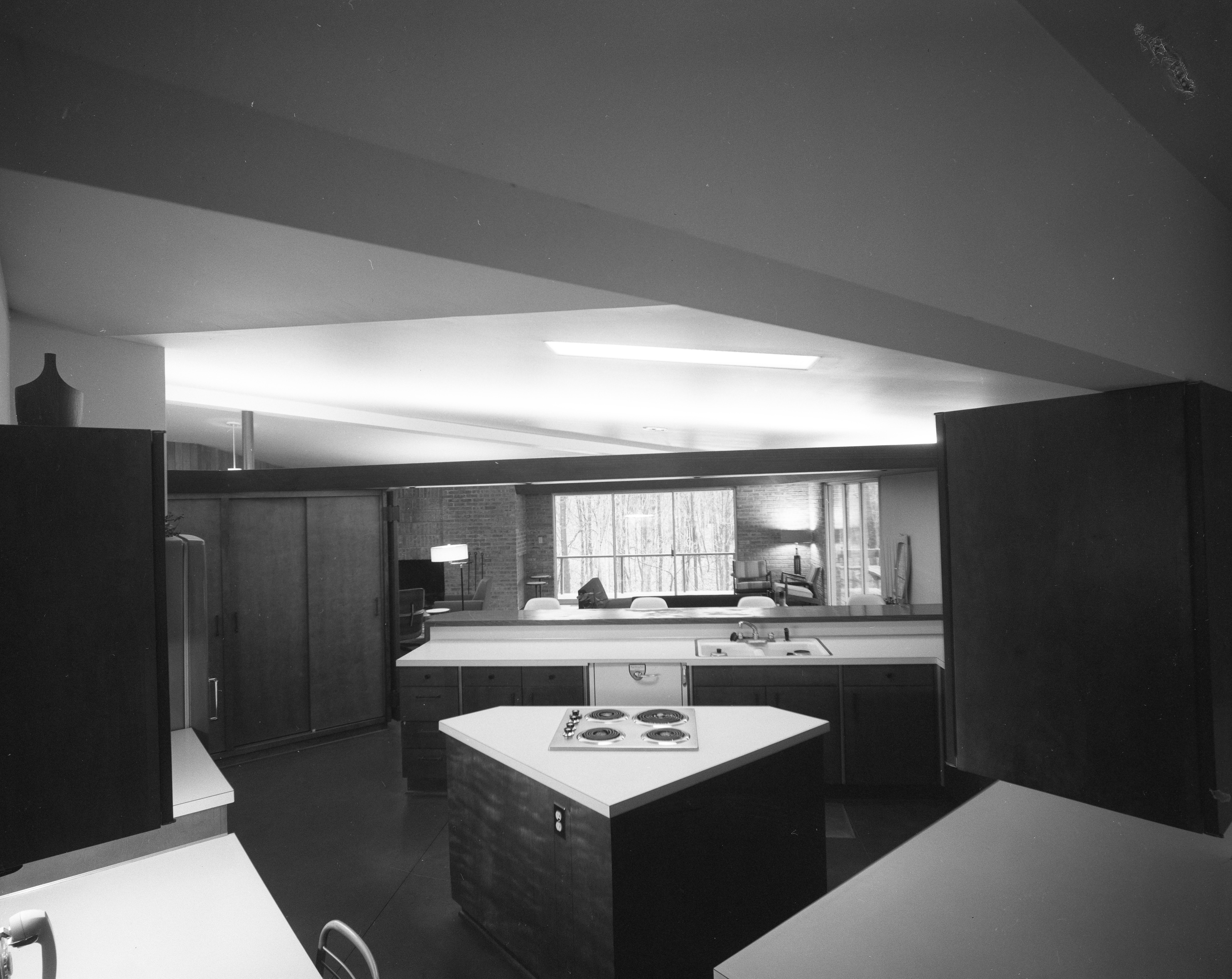 Kitchen in Holmes Mid-Century Modern Home On N Barton Dr., April 1961 image