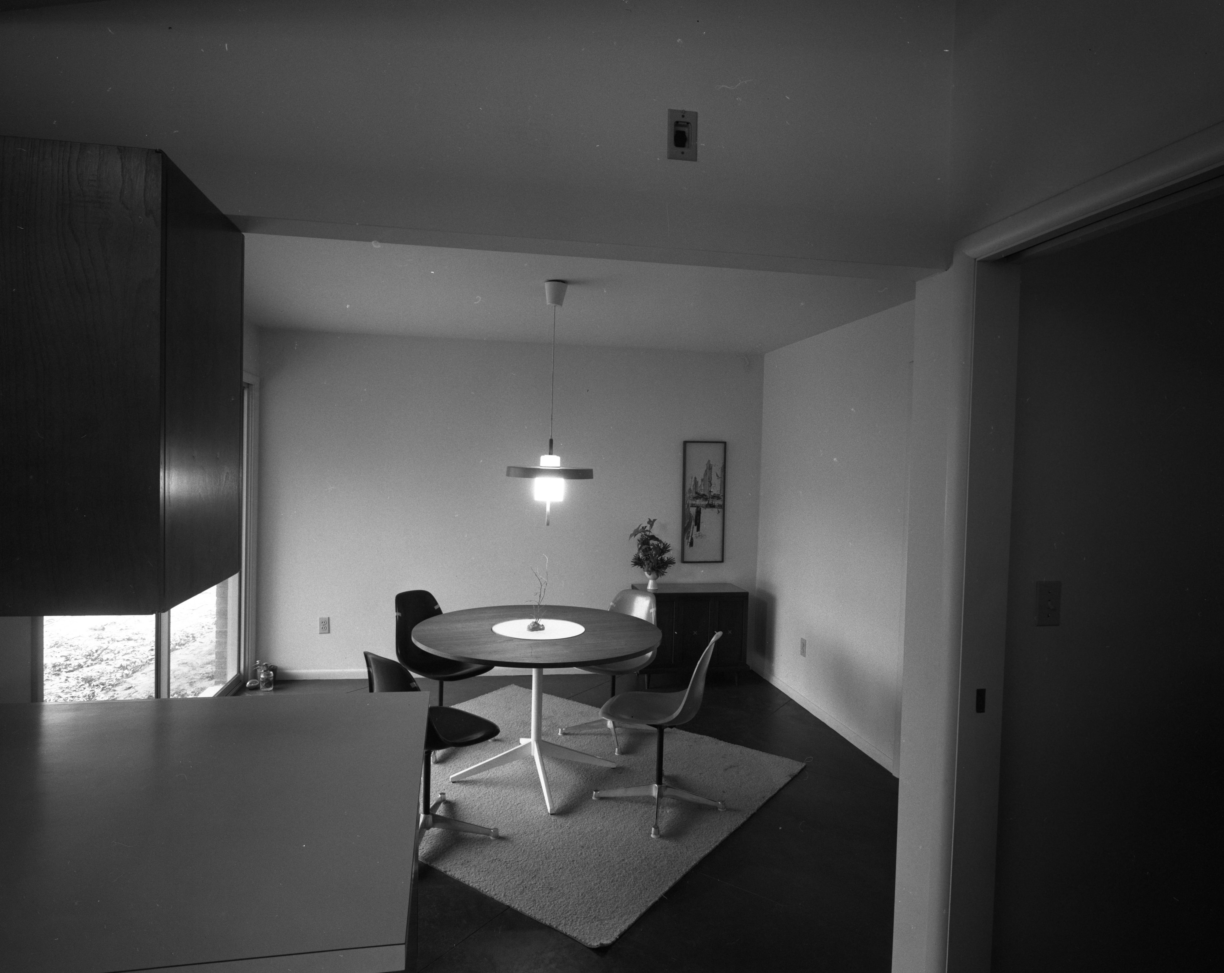 Dining Area In Holmes Mid-Century Modern Home On N Barton Dr., April 1961 image